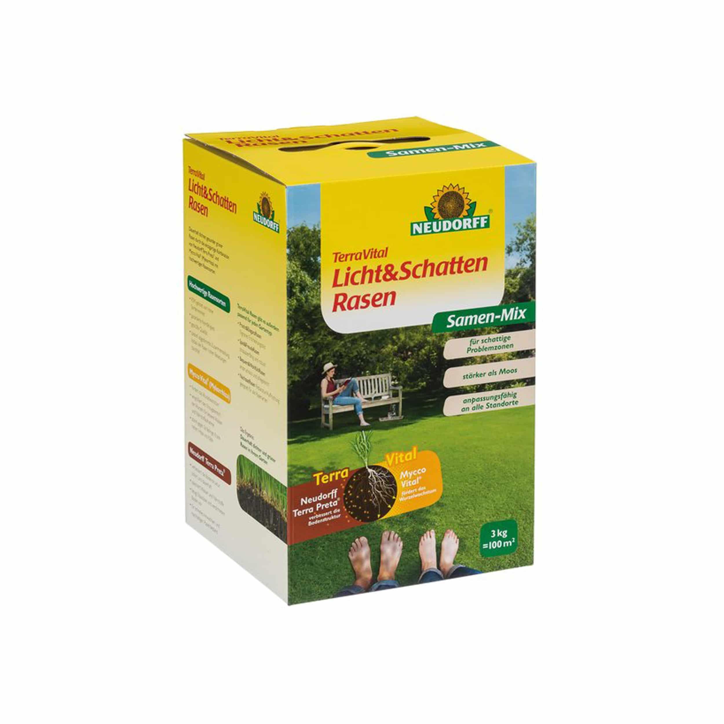 TerraVital Licht&SchattenRasen Samen-Mix 3 kg