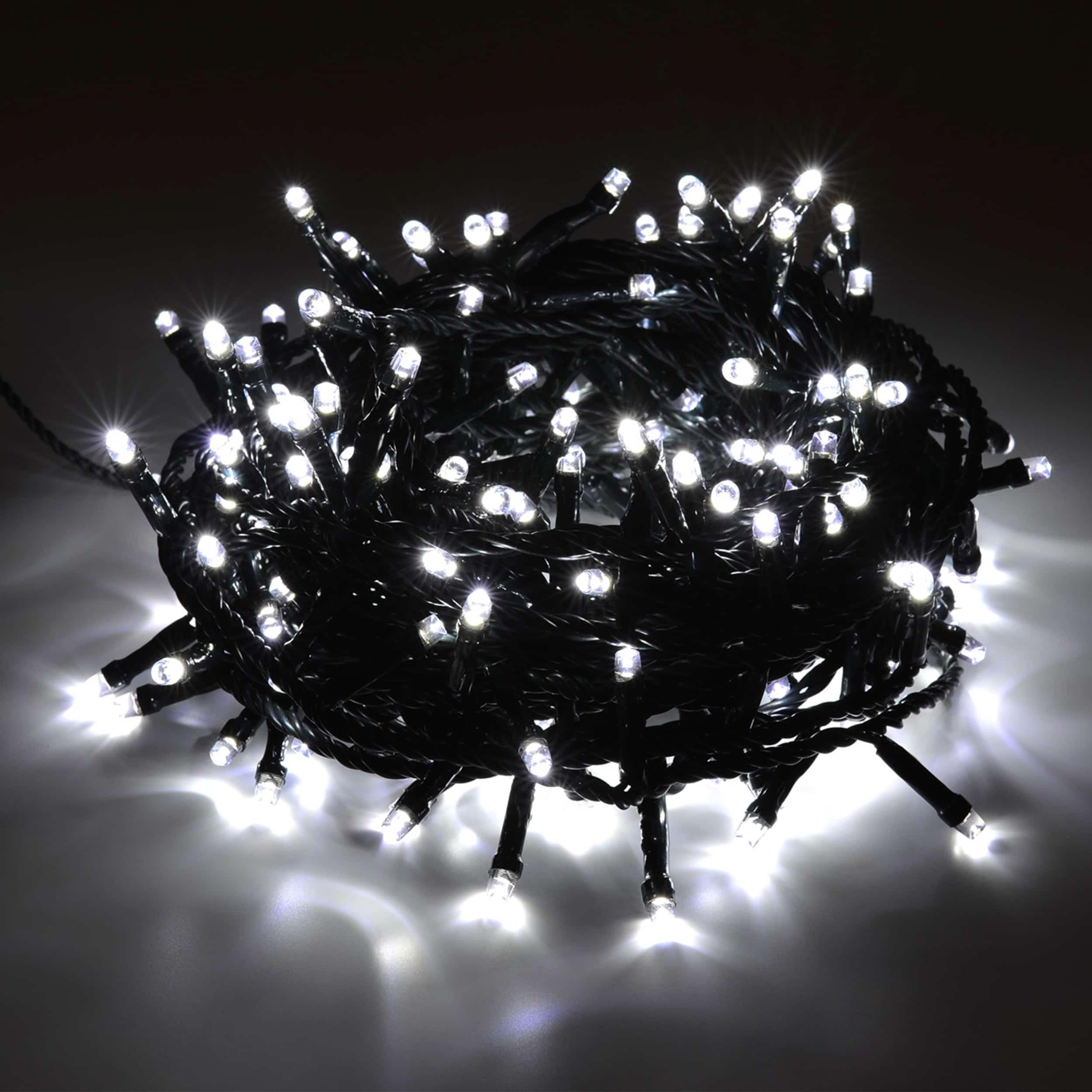 LED Lichterkette 200 LED energiesparend L10m kaltweiß