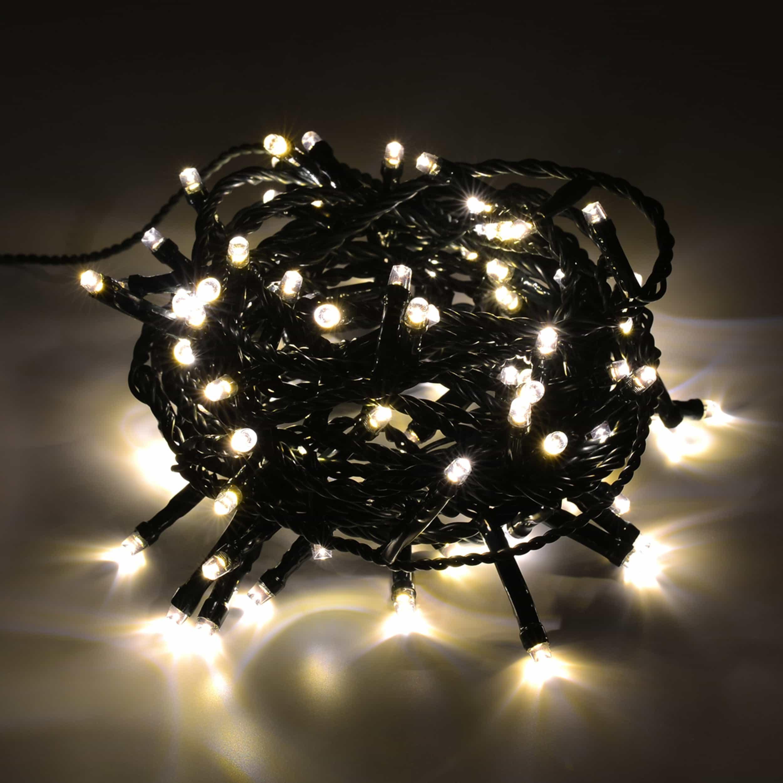 LED Lichterkette 200 LED energiesparend L10m warmweiß