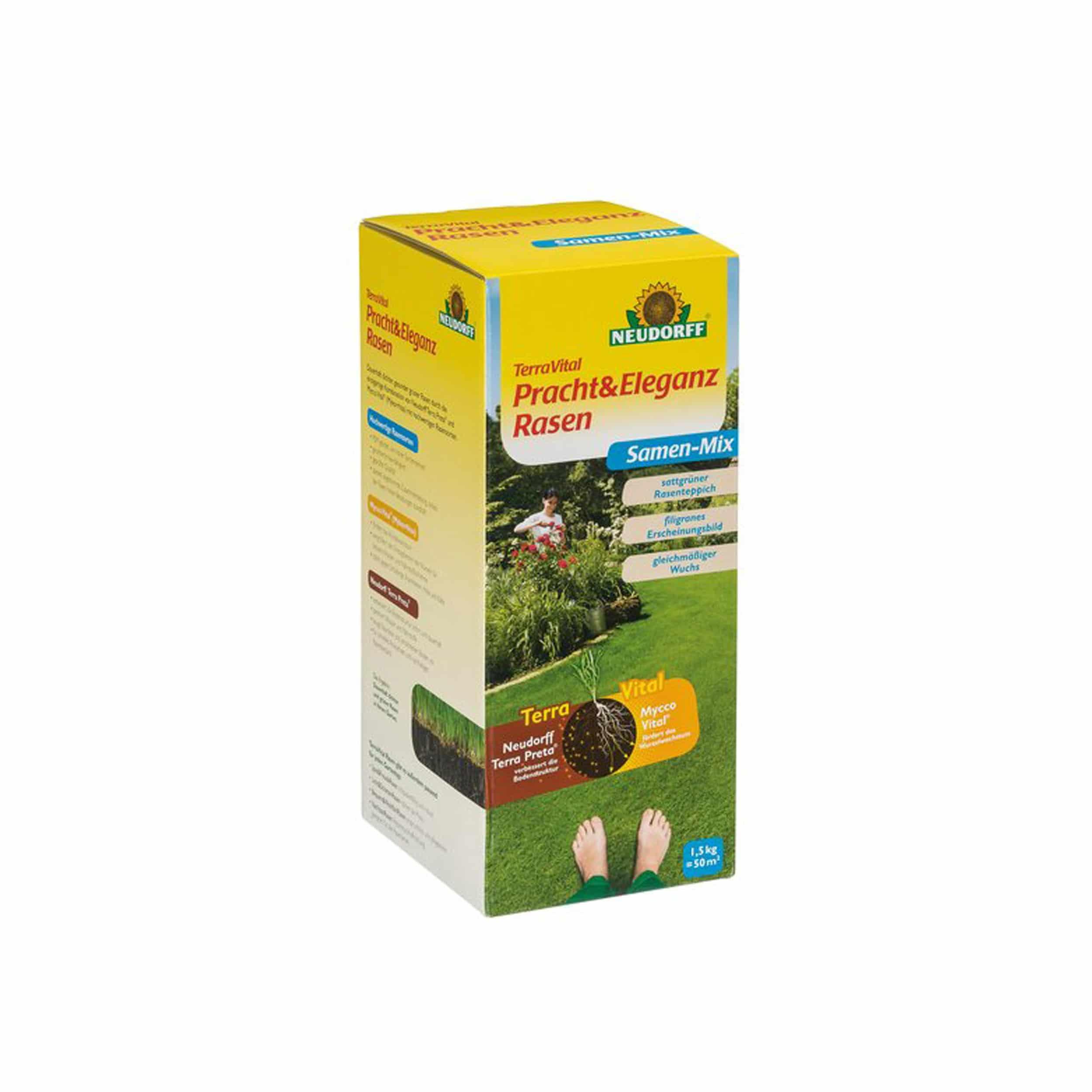 TerraVital Pracht&EleganzRasen Samen-Mix 1,5 kg