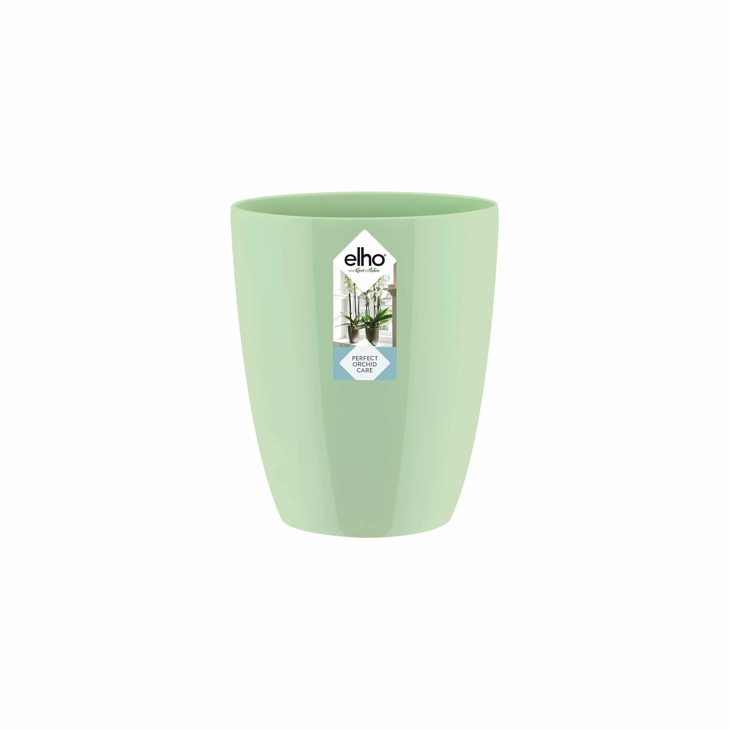 Orchideen-Übertopf Brussels Diamond Orchid High D13cm glänzend soft grün