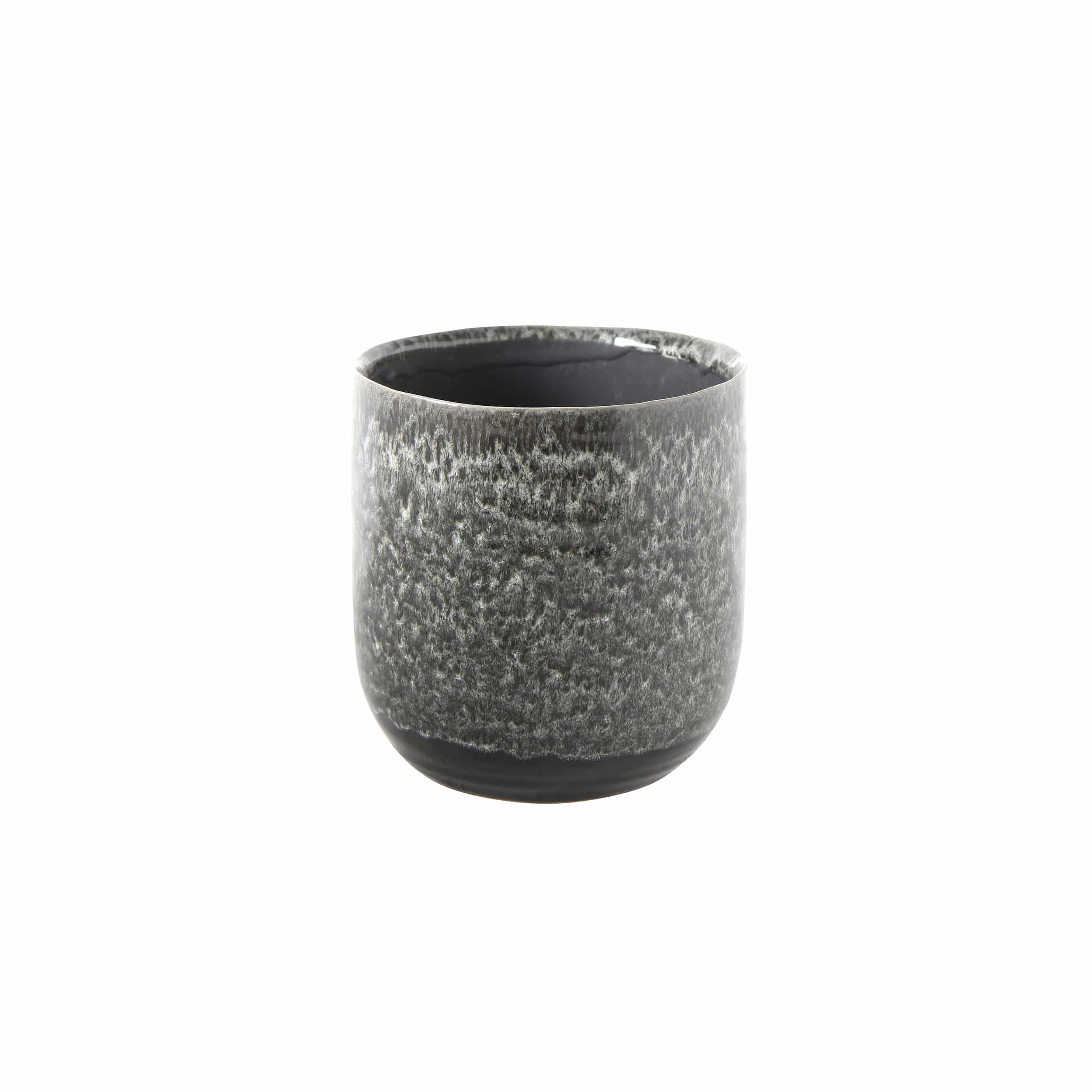 Blumentopf Daan D16 cm schwarz