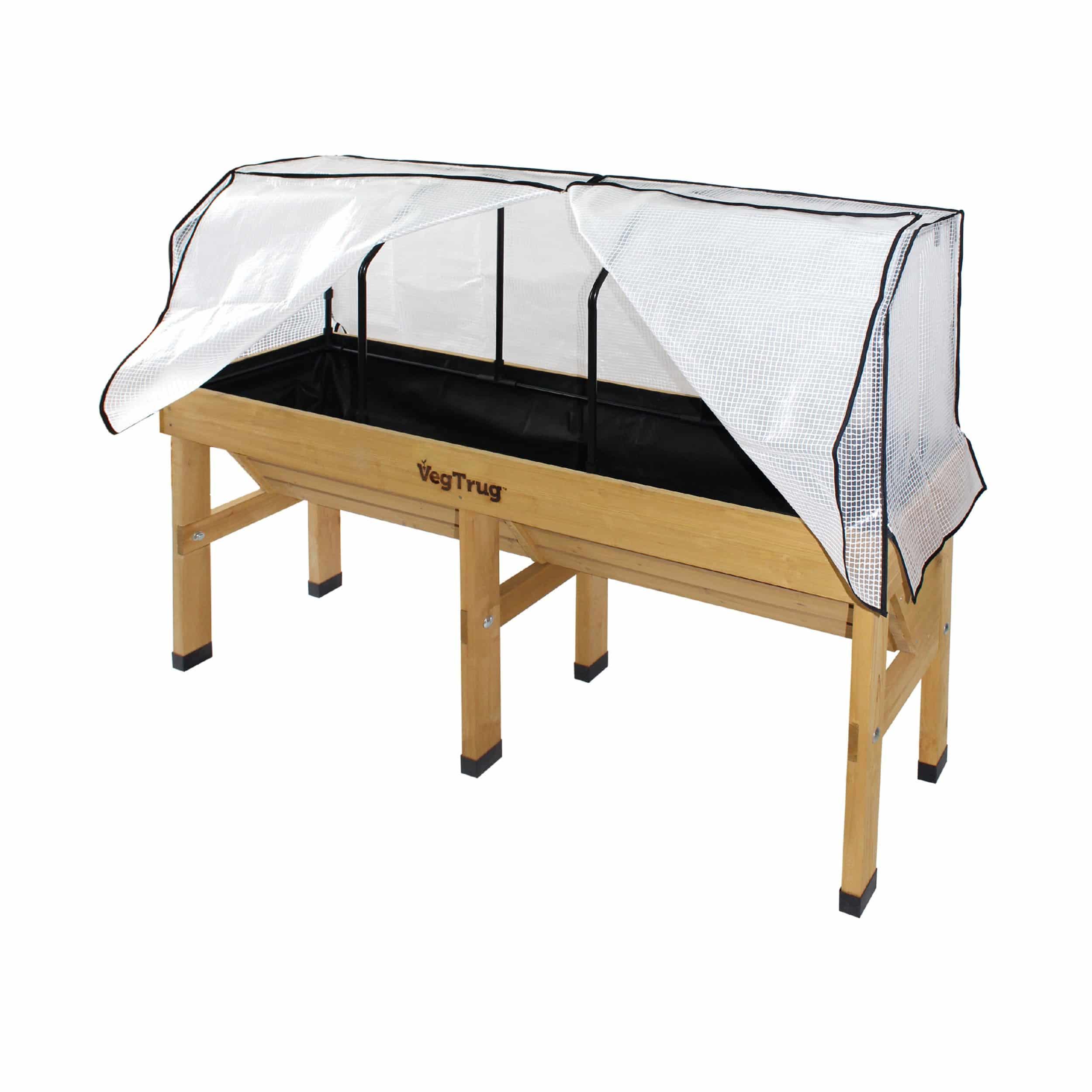Gitternetzfolie mit Rahmen für Balkonhochbeet WALL HUGGER Medium L180cm