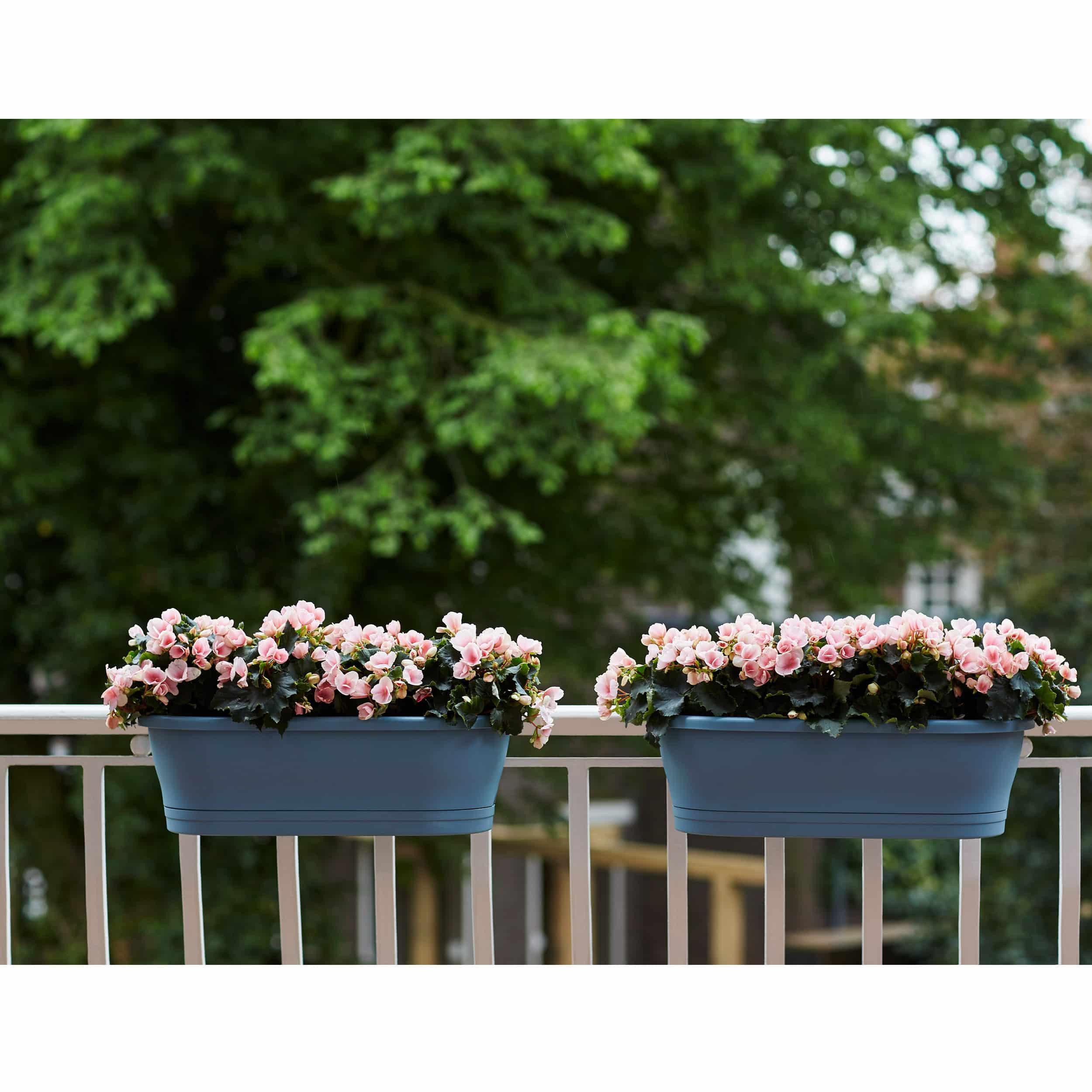 Blumenkasten Corsica Easy Balcony L60cm vintage blau