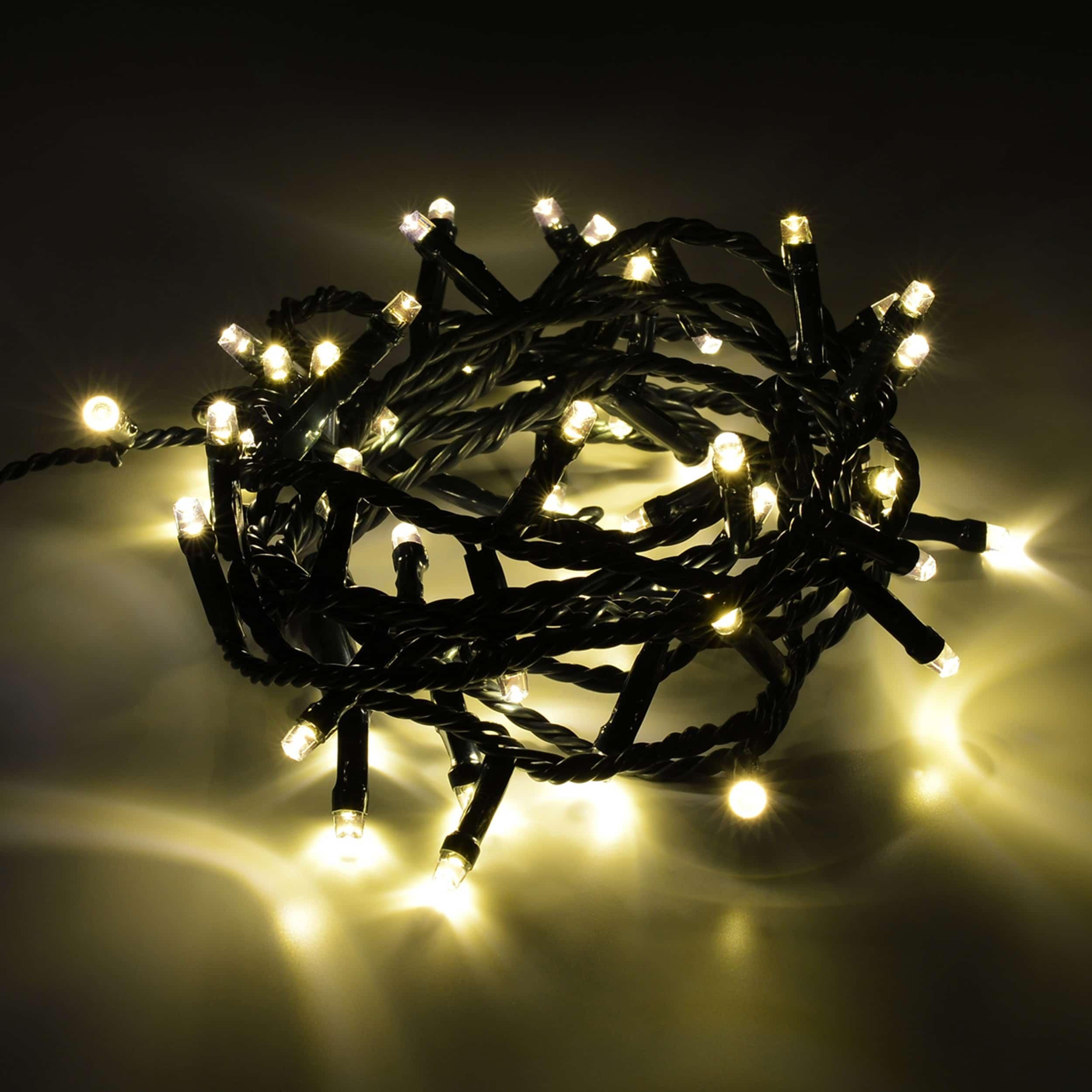 LED Lichterkette 50 LED energiesparend L250cm warmweiß