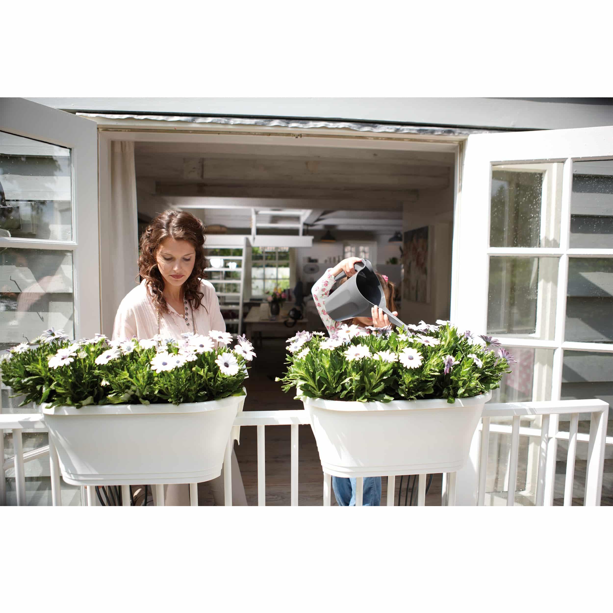 Balkonkasten Corsica Flower Bridge L60cm weiß