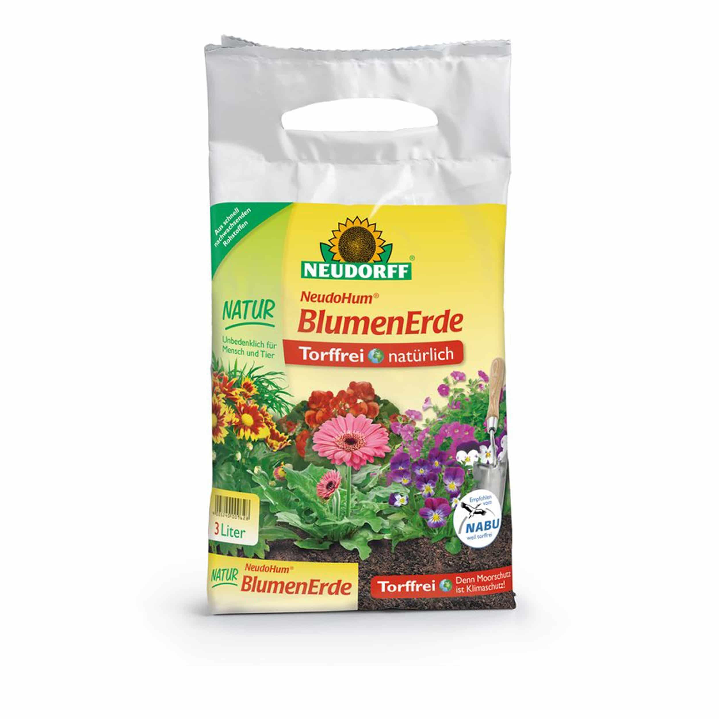 NeudoHum BlumenErde  3 Liter