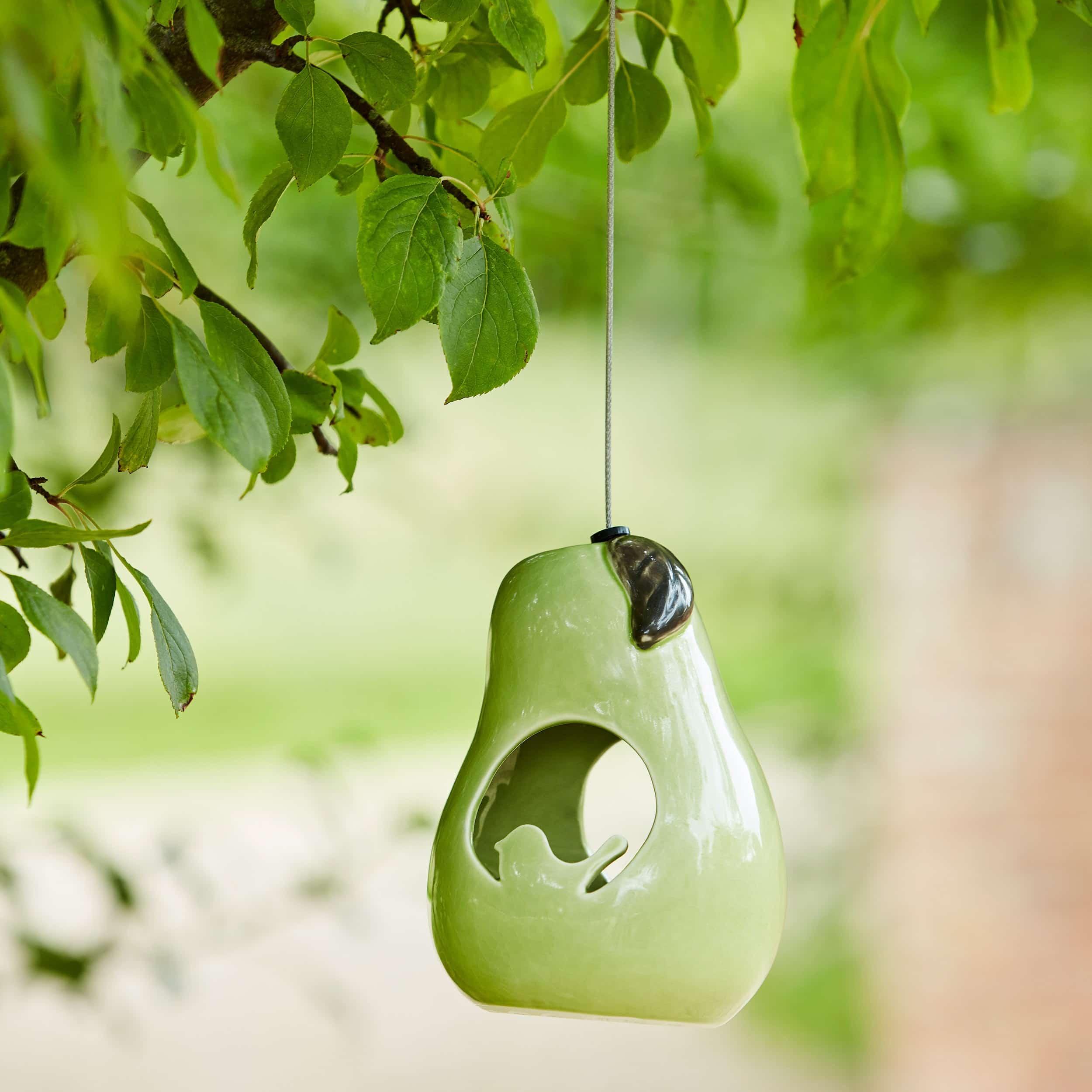 Futterhäuschen aus Keramik Birne