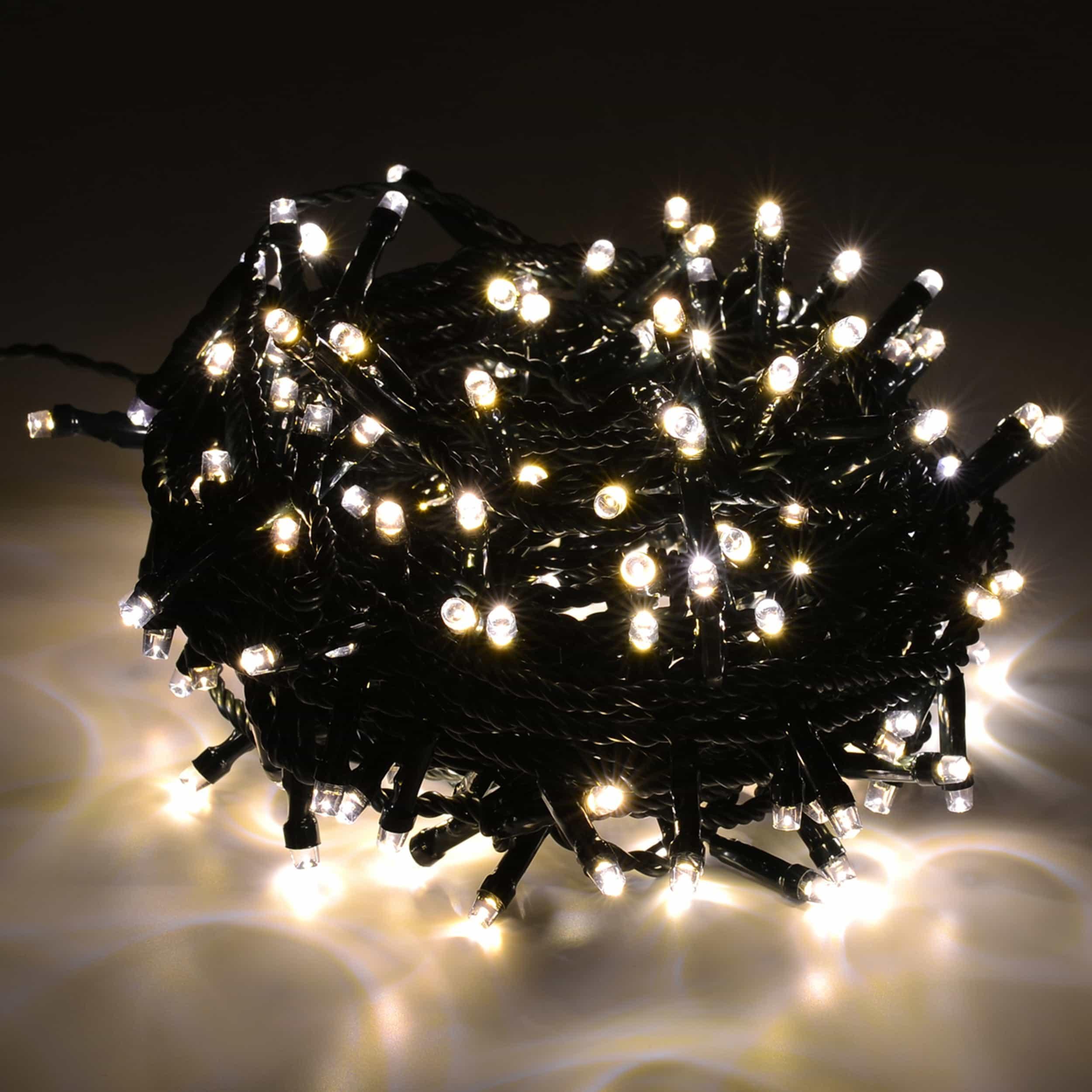 LED Lichterkette 600 LED energiesparend L30m LED-Lichtfarbe: kaltweiß