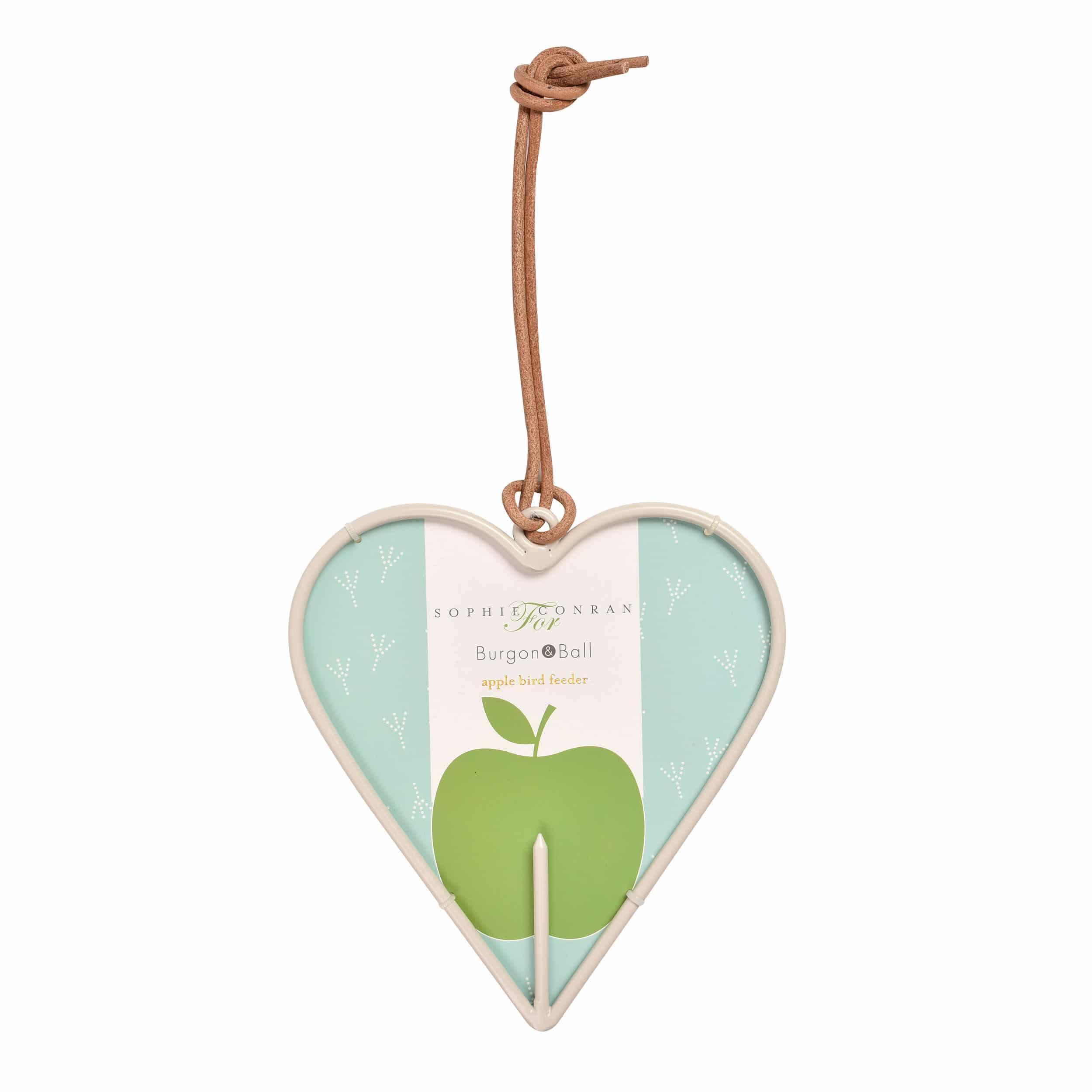 Apfelhalter für Vögel - Herz