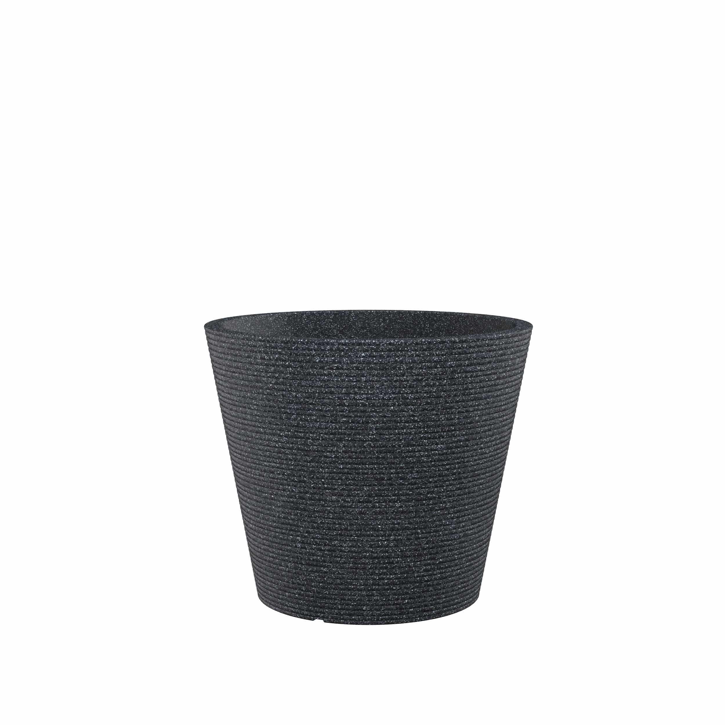 Blumenkübel Coneo D40 cm schwarz