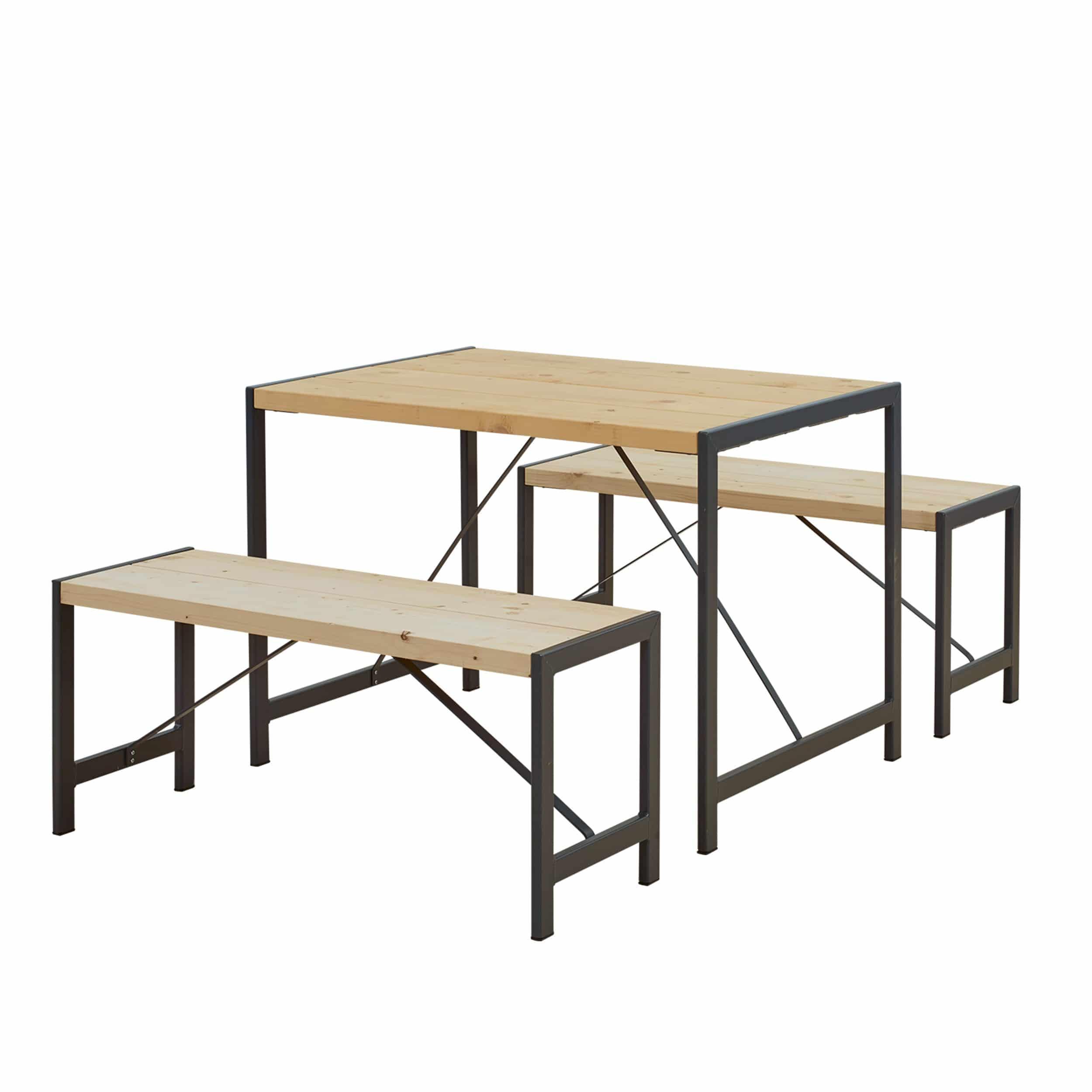 Sitzgarnitur Funkis 1 Tisch 2 Bänke