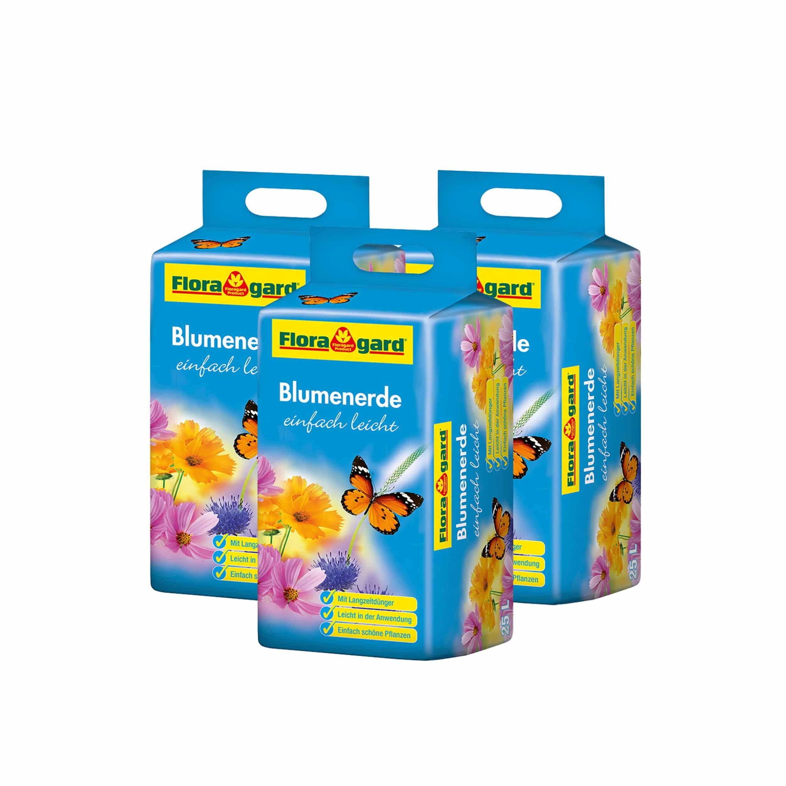 Blumenerde leicht 3x 25 Liter