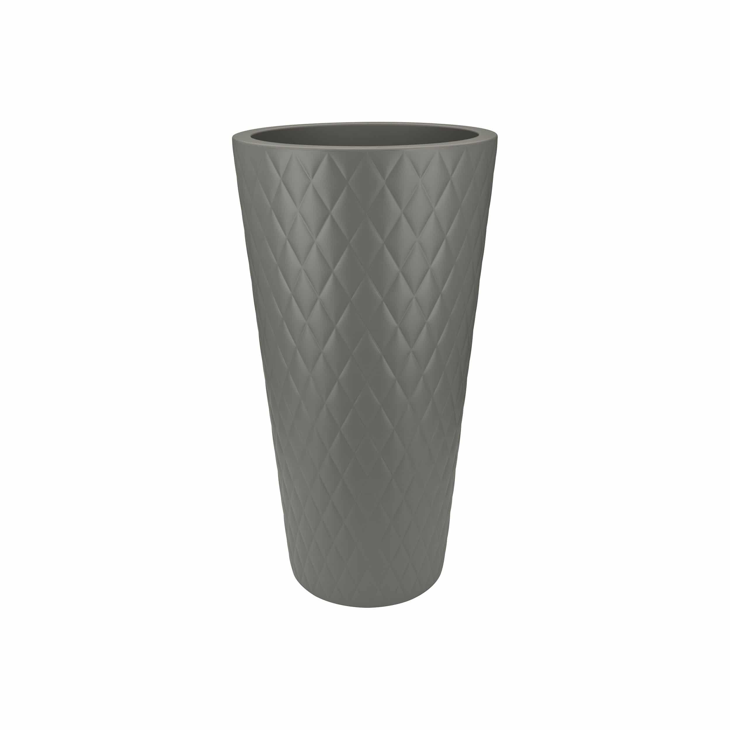 Pflanzsäule Pure Straight Crystal High H80cm steingrau