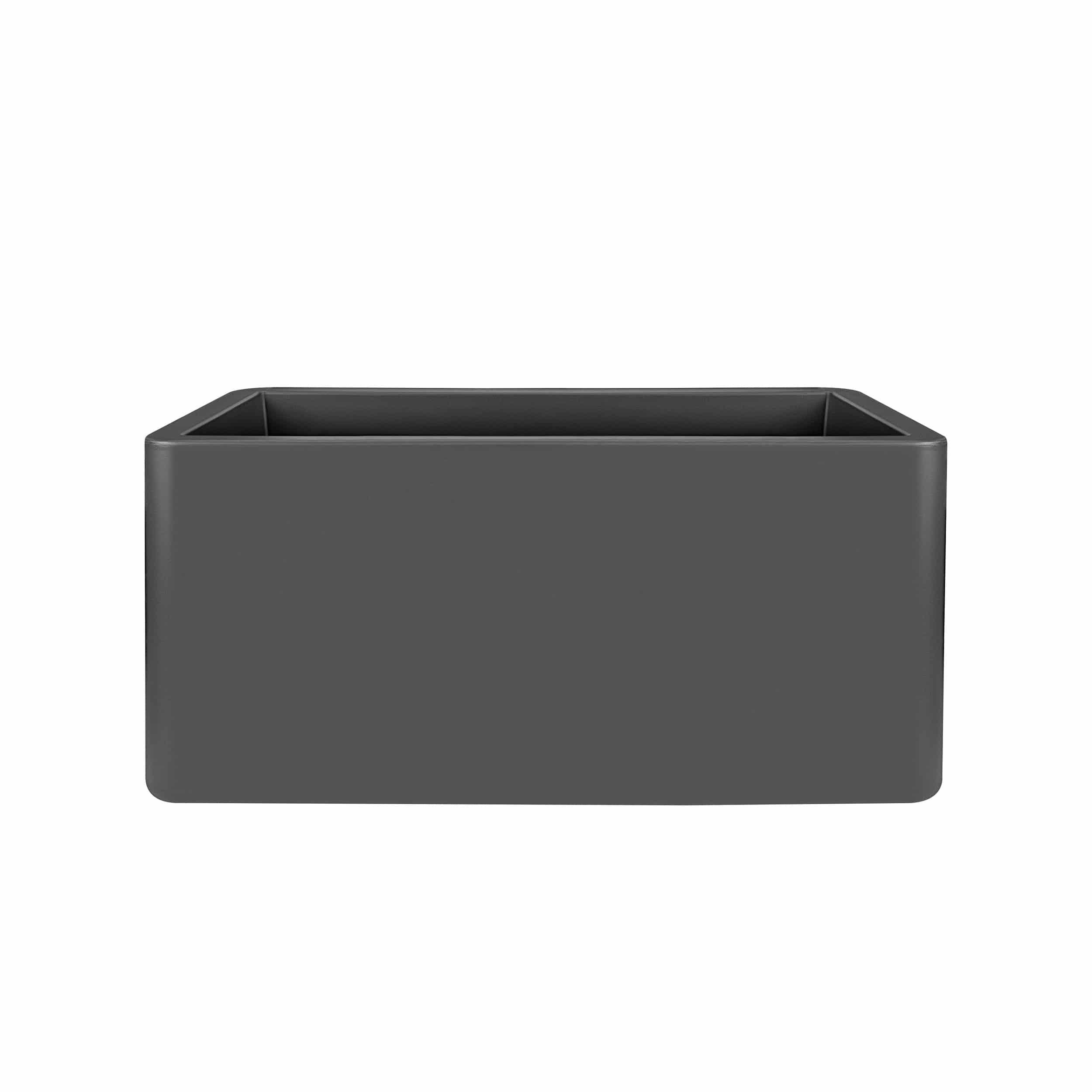 Pflanzkasten Pure Soft Brick Long mit Rollen L80cm anthrazit