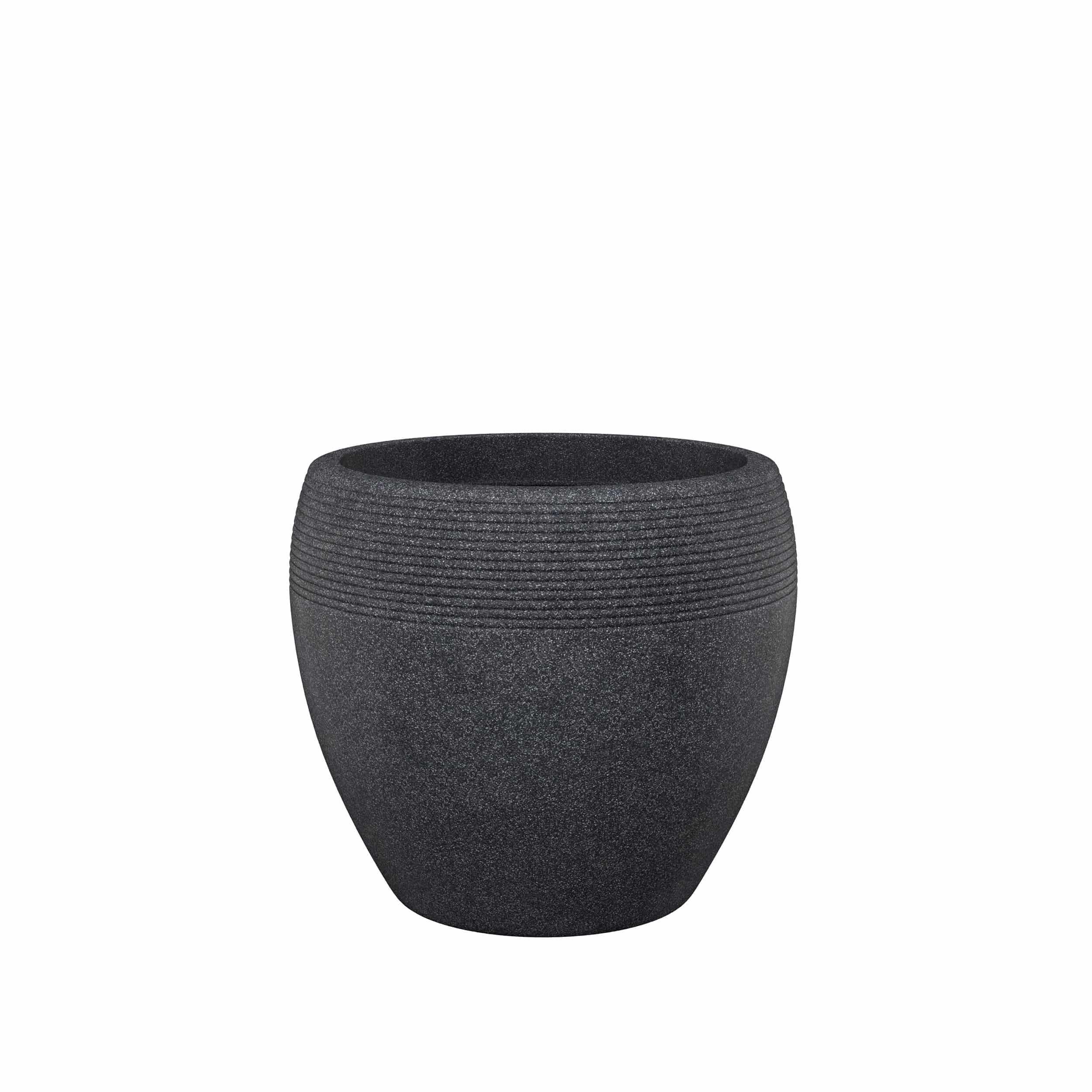 Blumenkübel Lineo D48 cm schwarz