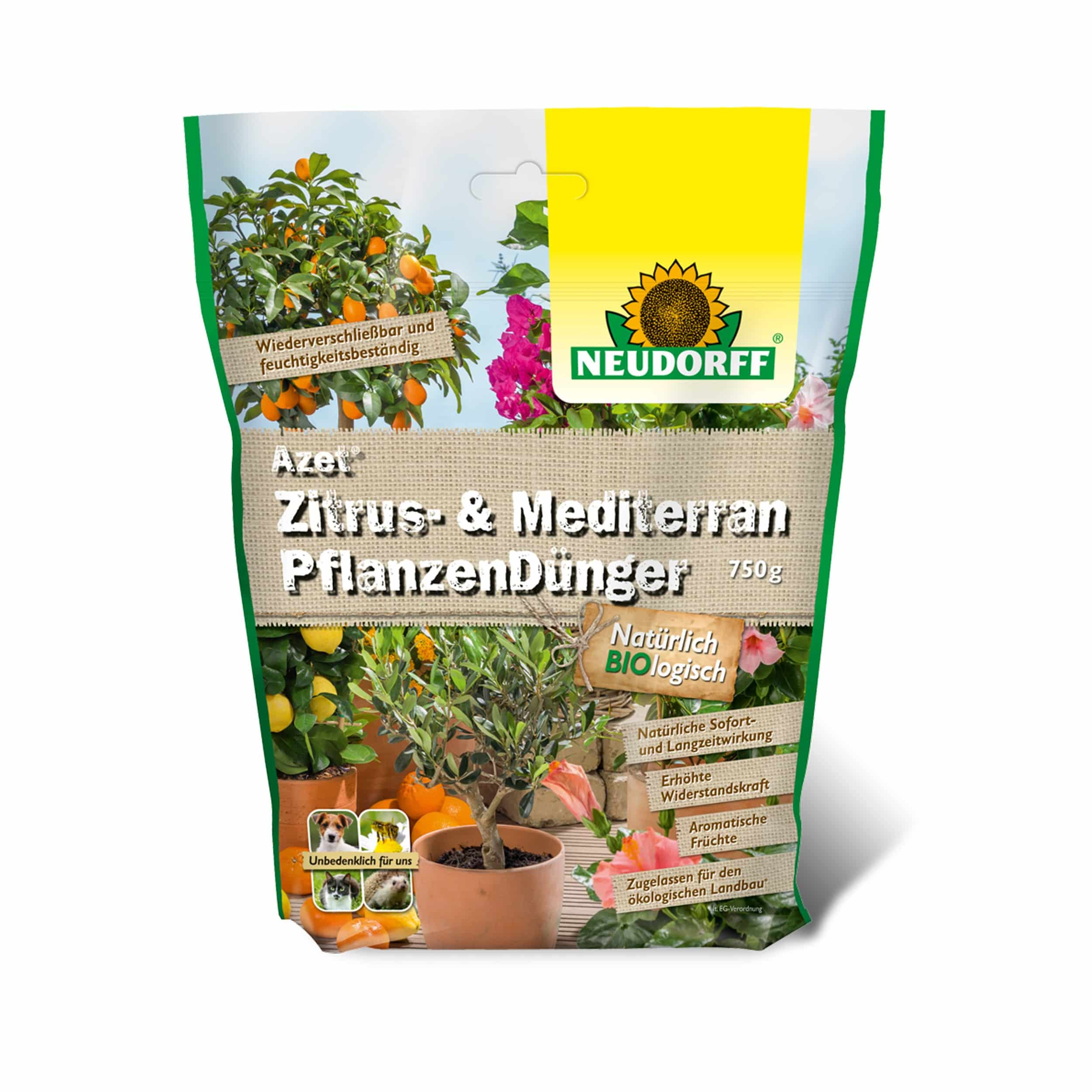 Azet Zitrus- und MediterranpflanzenDünger 750 g