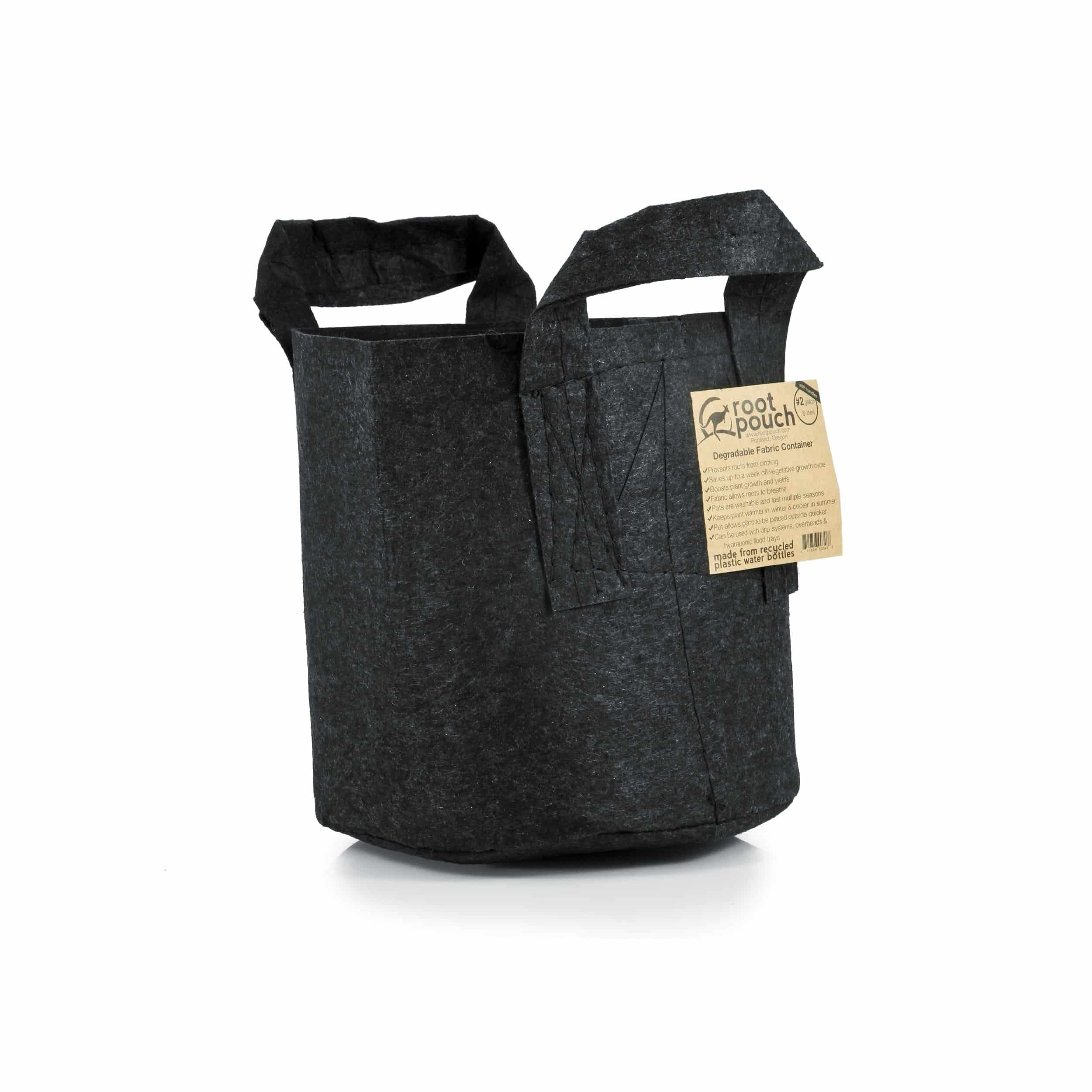 Pflanztasche mit Griffen 8l schwarz