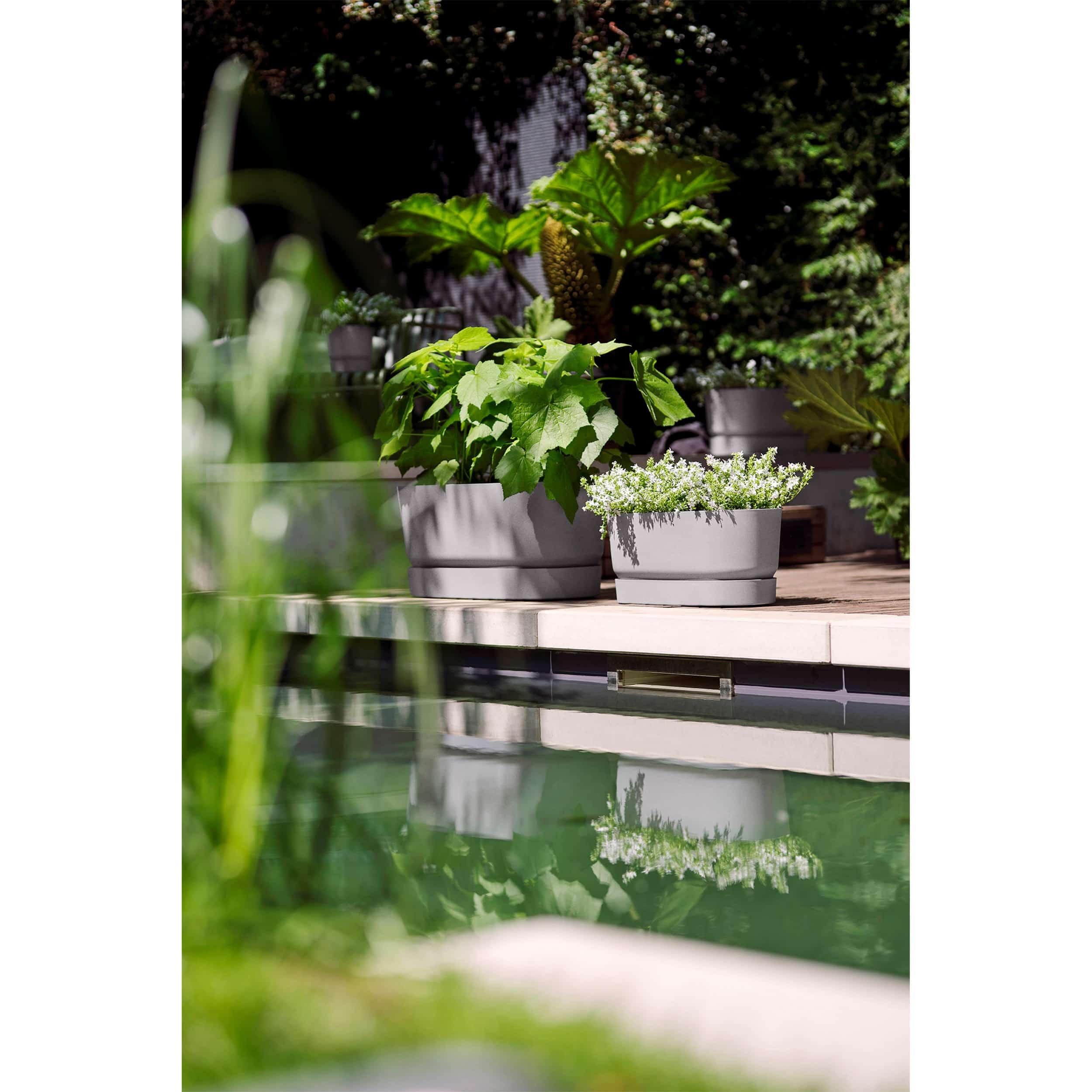 Design Blumenkasten Greenville L50 cm hellgrau
