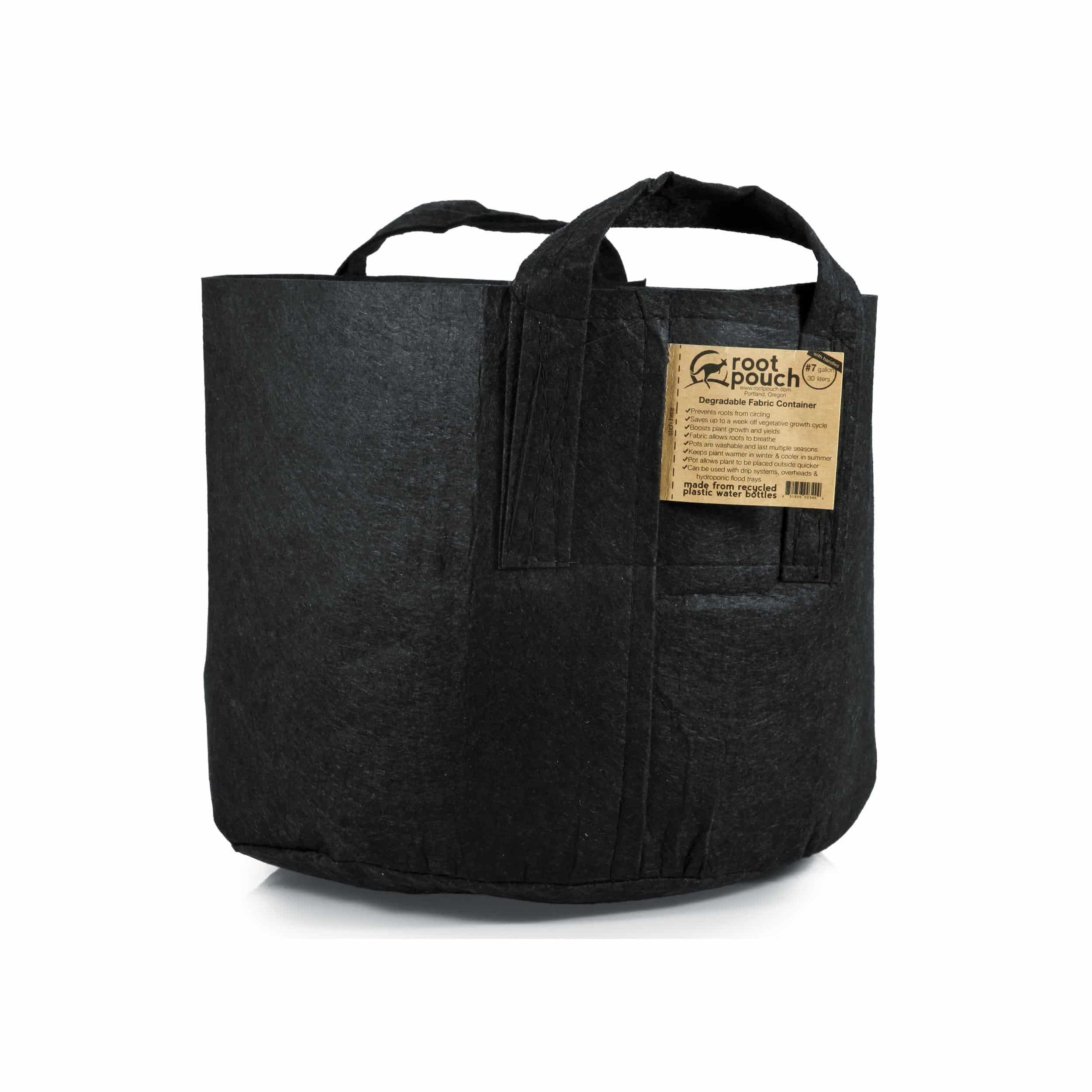 Pflanztasche mit Griffen 30l schwarz