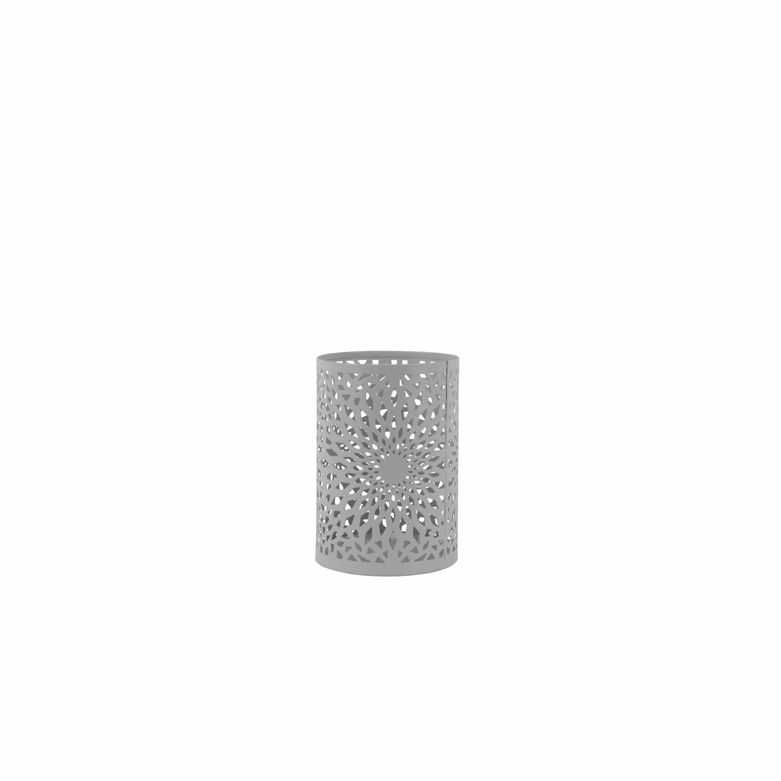 Windlicht aus Eisen H15 cm grau