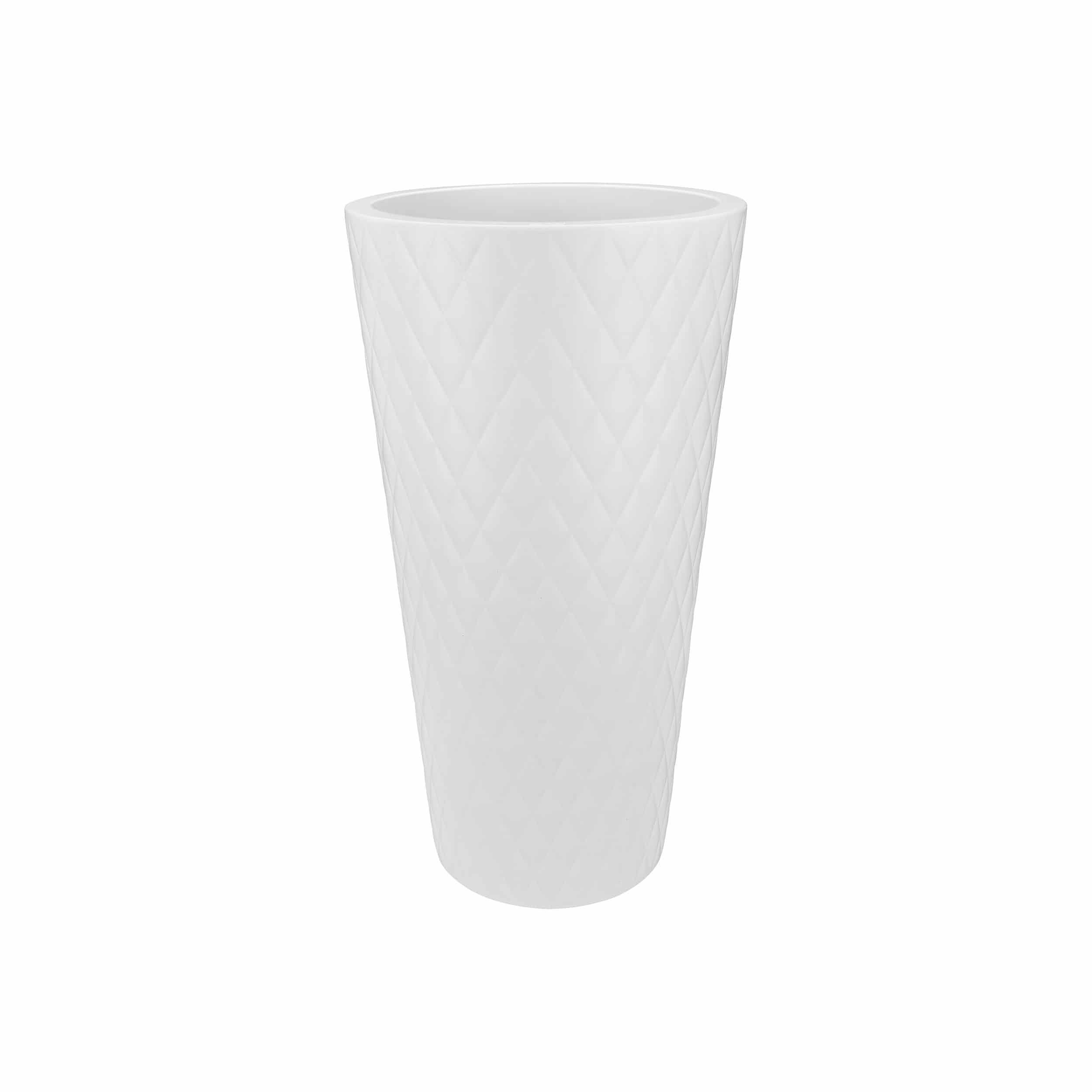 Pflanzsäule Pure Straight Crystal High H80cm weiß
