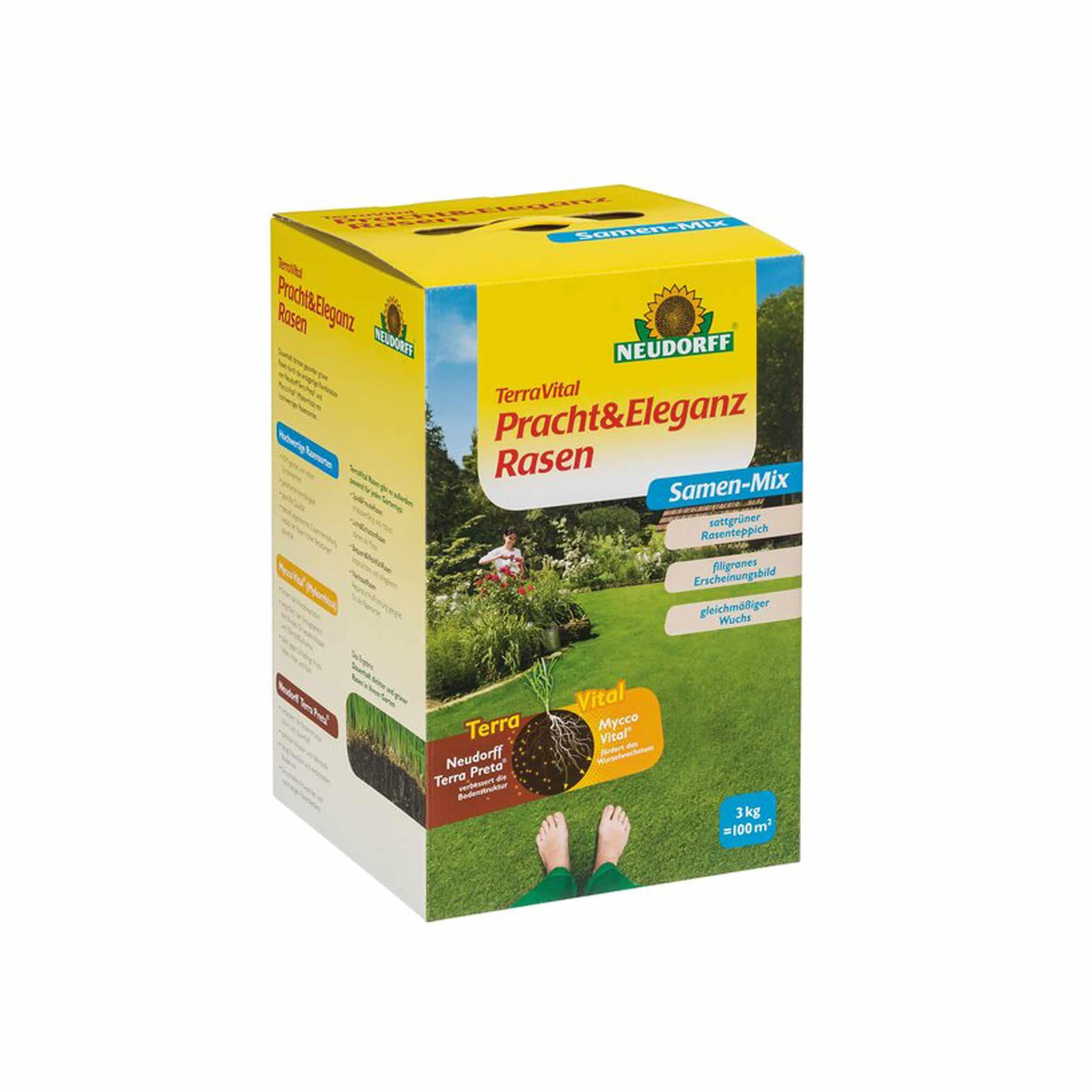 TerraVital Pracht&EleganzRasen Samen-Mix 3 kg