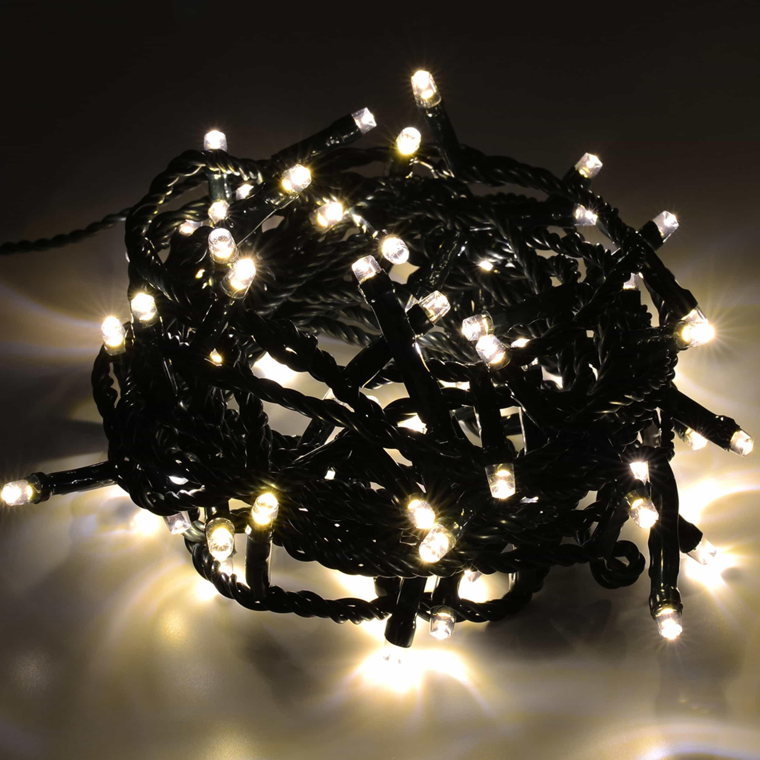 LED Lichterkette 80 LED energiesparend L4m warmweiß
