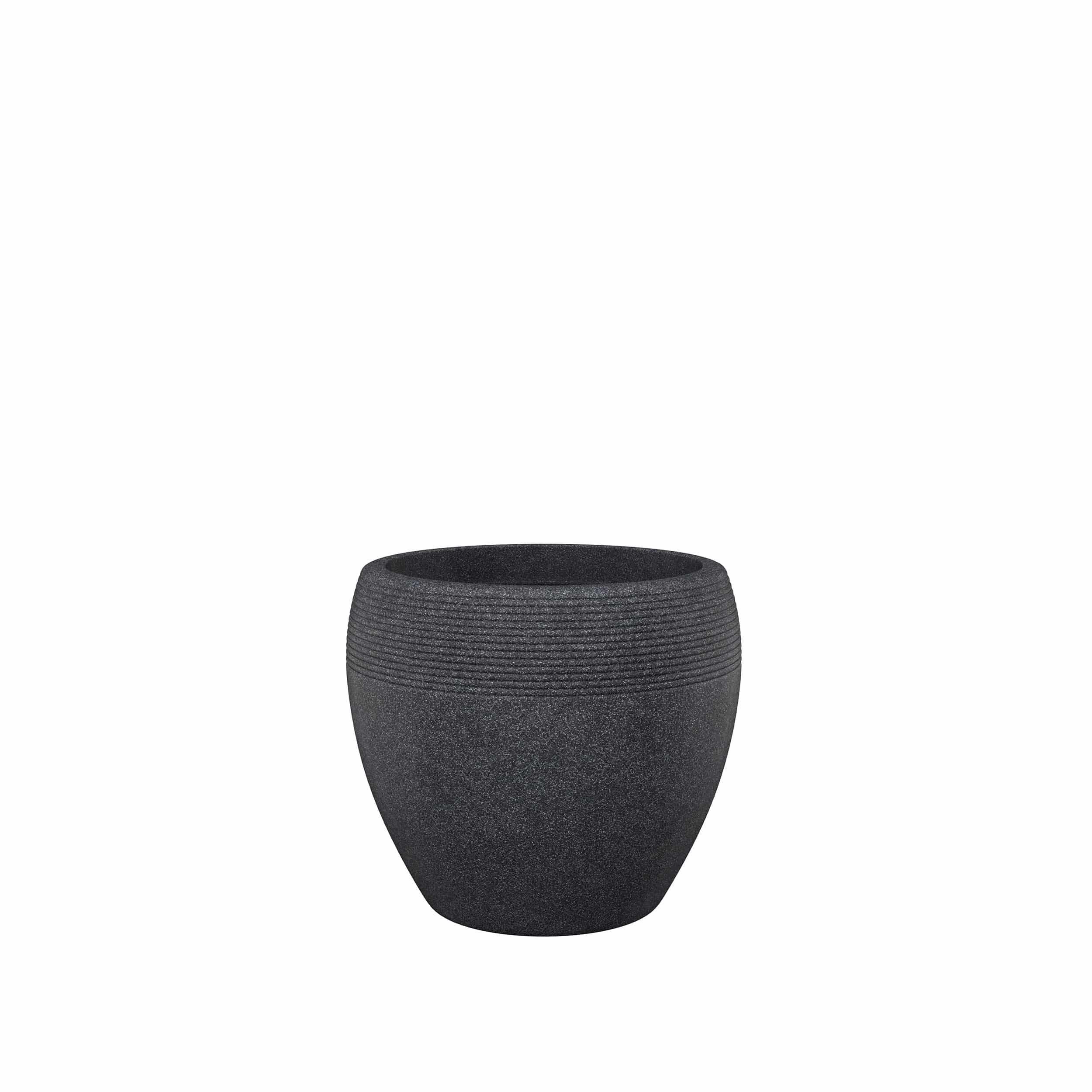 Blumenkübel Lineo D30 cm schwarz