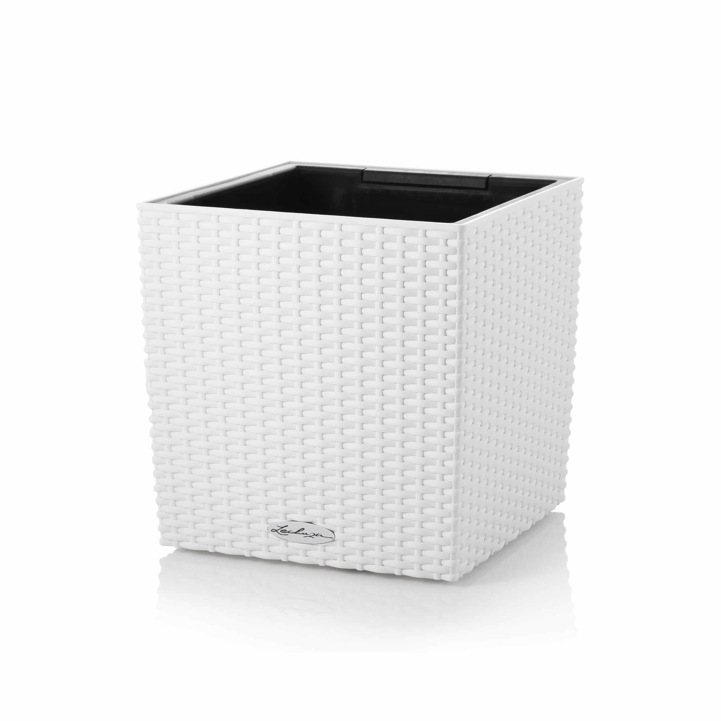 Blumenkübel Cube Cottage 40 All-in-One Set L40cm weiß