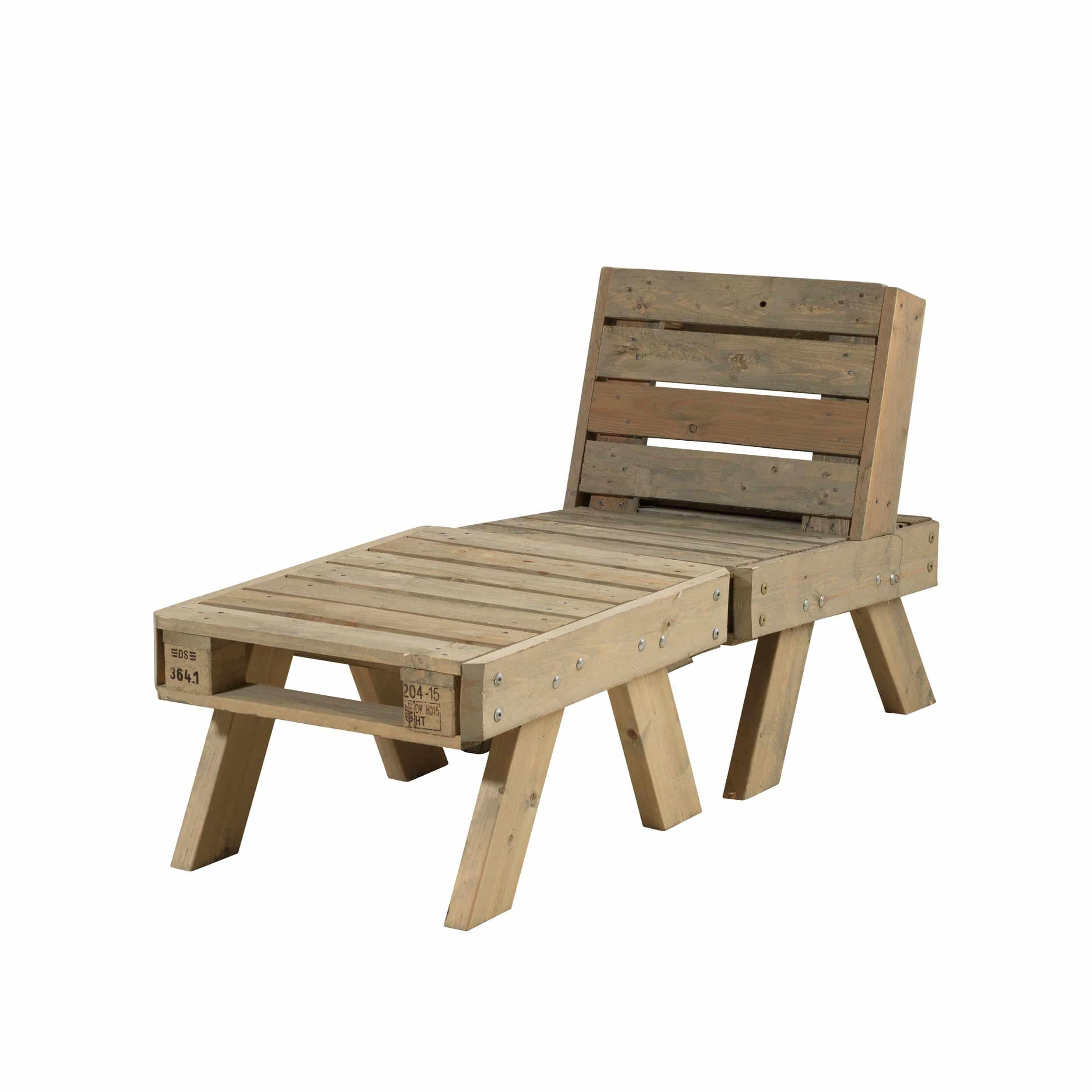 Paletten-Loungemöbel-Set klein farbgrundiert Treibholz