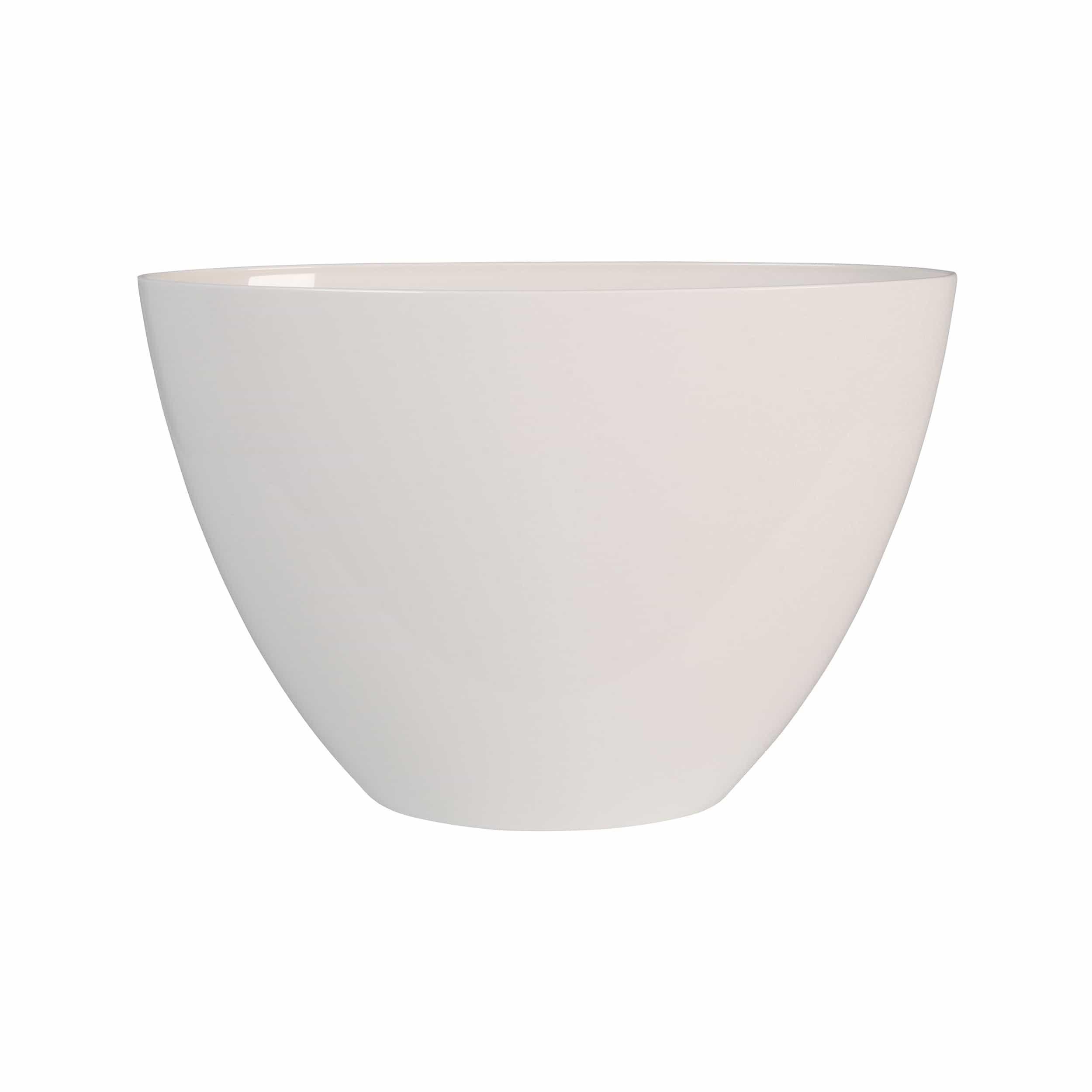 Pflanzgefäß Brussels Diamond Oval High L36cm weiß