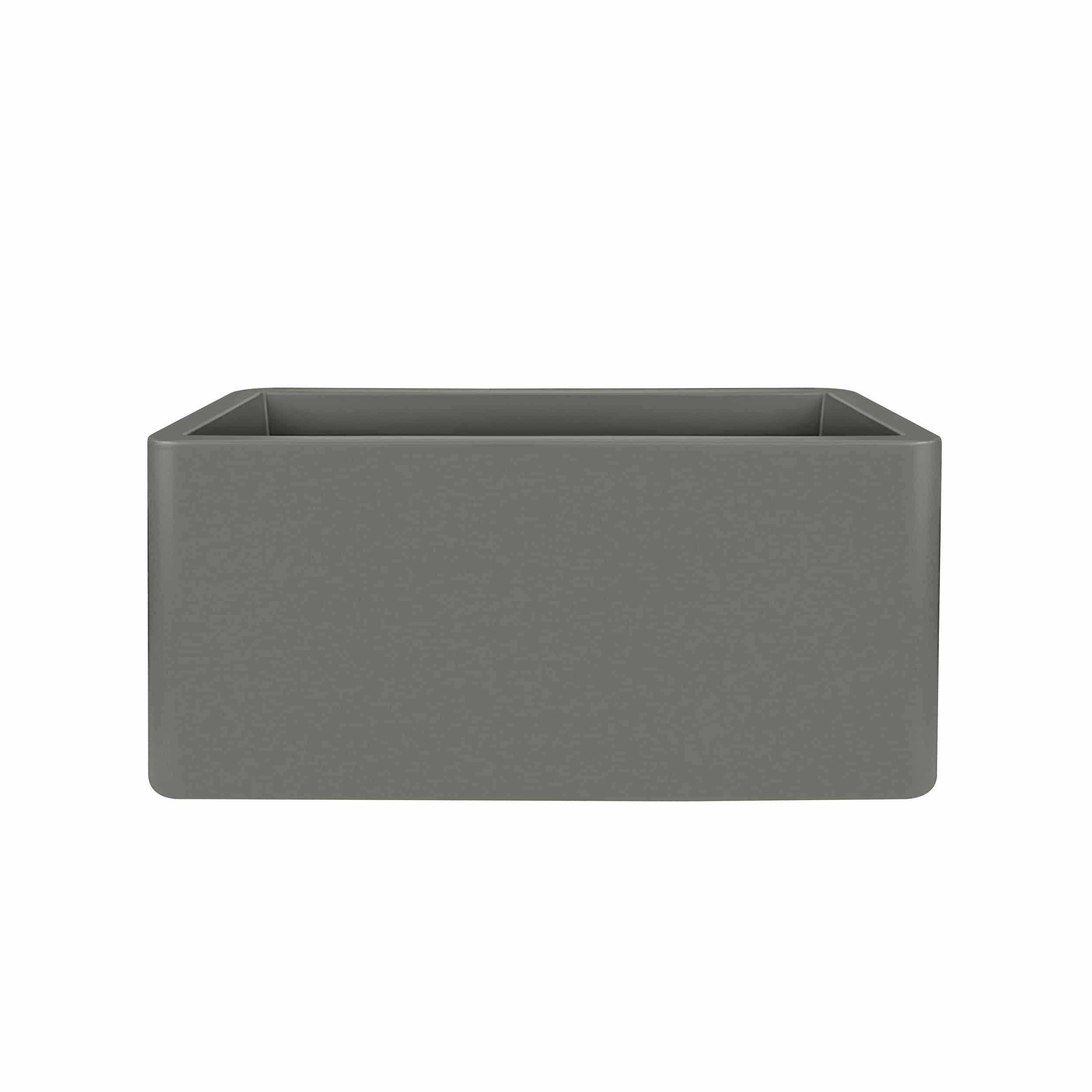 Pflanzkasten Pure Soft Brick Long mit Rollen L80cm steingrau