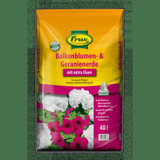 Balkonblumen- & Geranienerde – mit extra Eisen 40 Liter