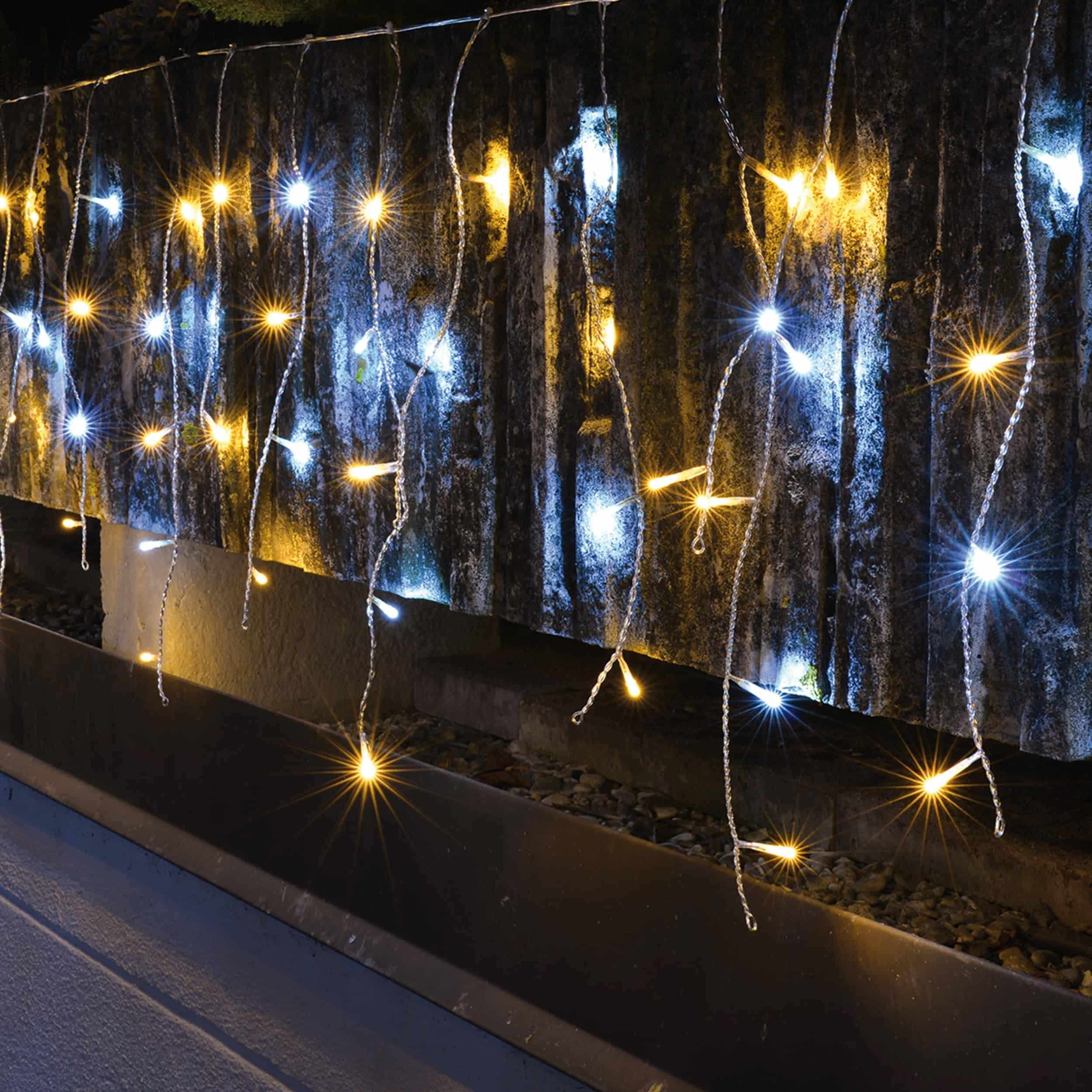 Outdoor Lichtervorhang 240 LED L720cm warmweiß / kaltweiß