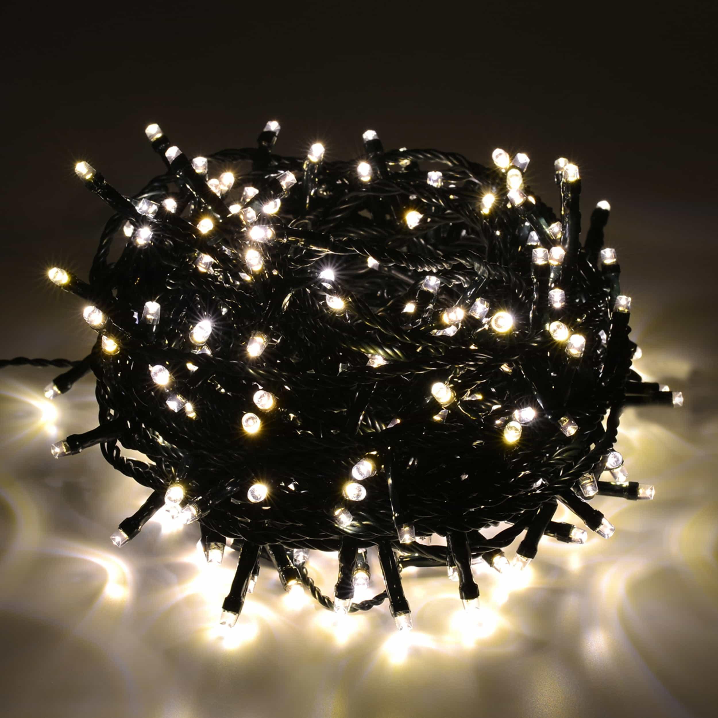 LED Lichterkette 300 LED energiesparend L15m warmweiß