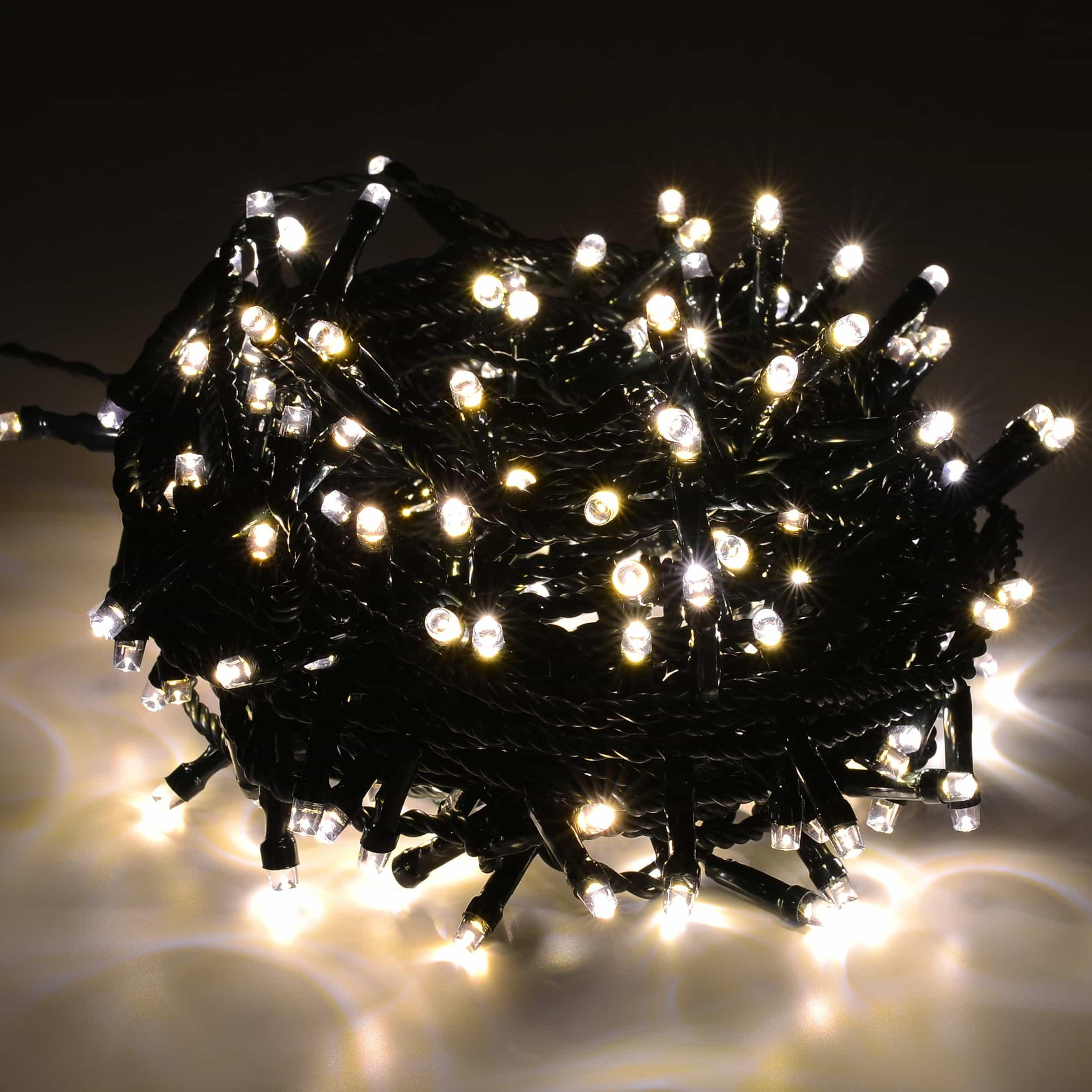 LED Lichterkette 600 LED energiesparend L30m warmweiß