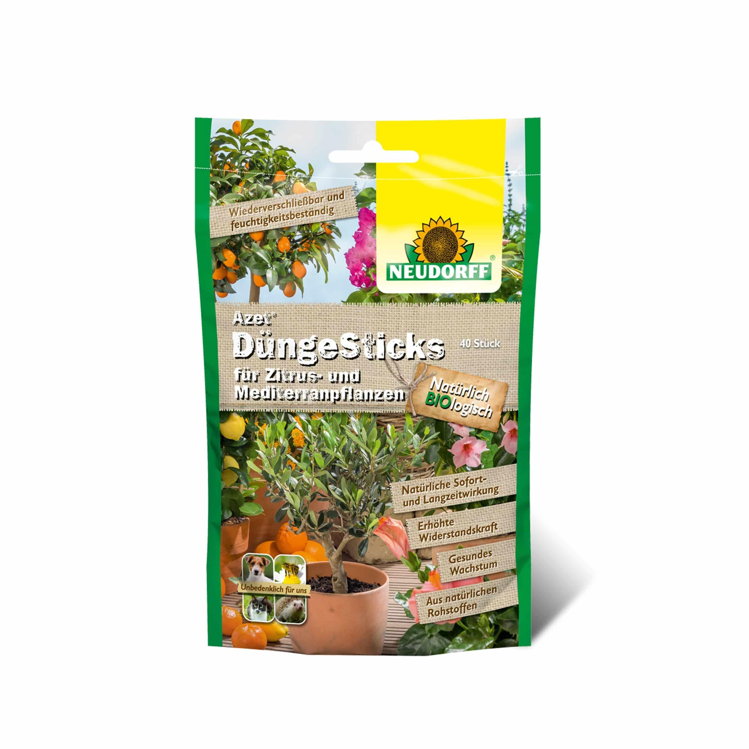Azet DüngeSticks für Zitrus- und Mediterranpflanzen 40 Stück