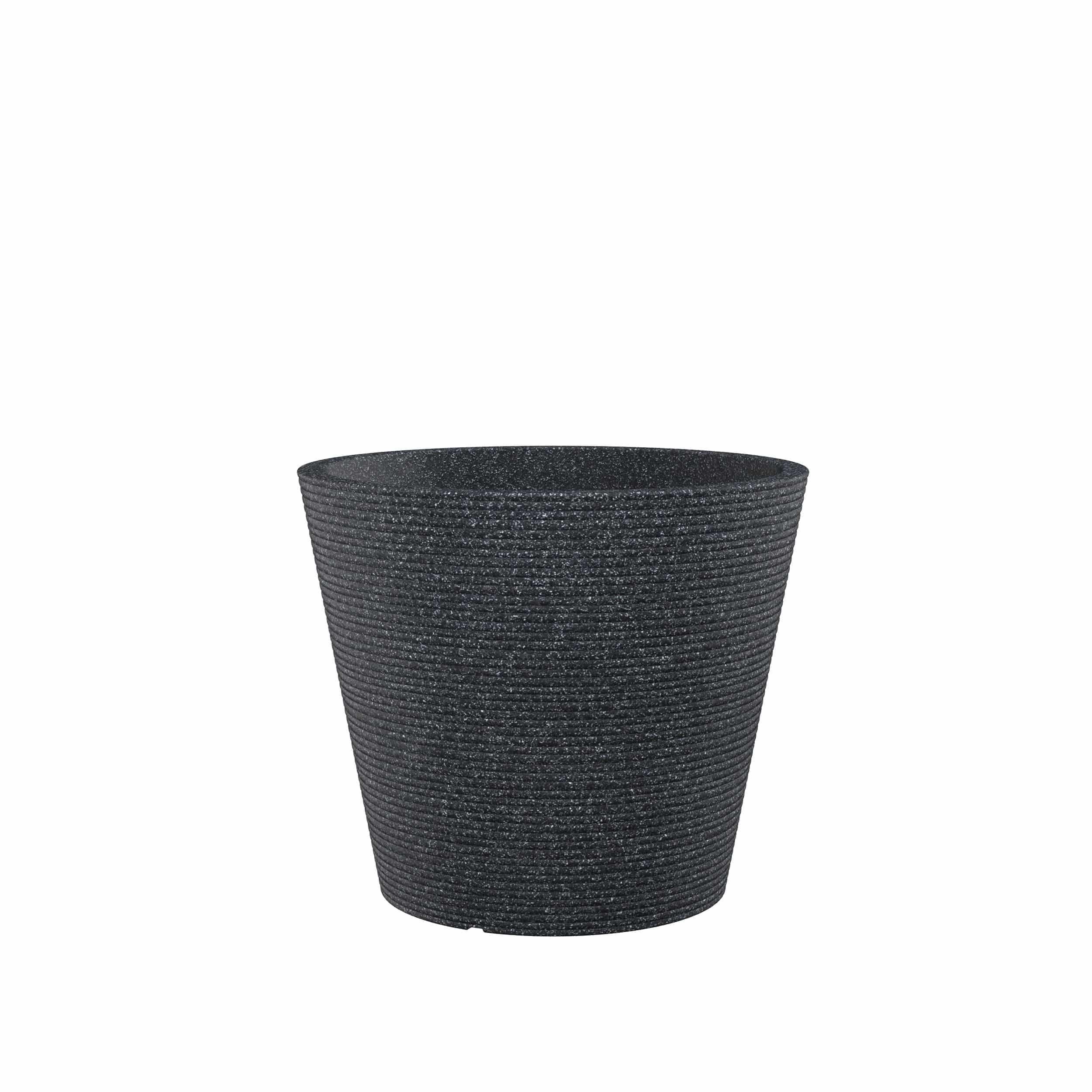 Blumenkübel Coneo D49 cm schwarz
