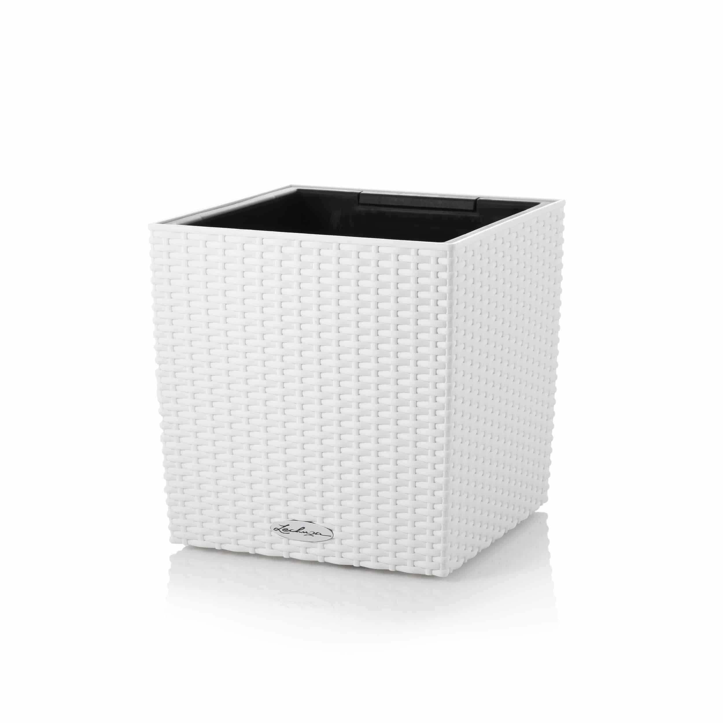Blumenkübel Cube Cottage 30 All-in-One Set L30cm weiß