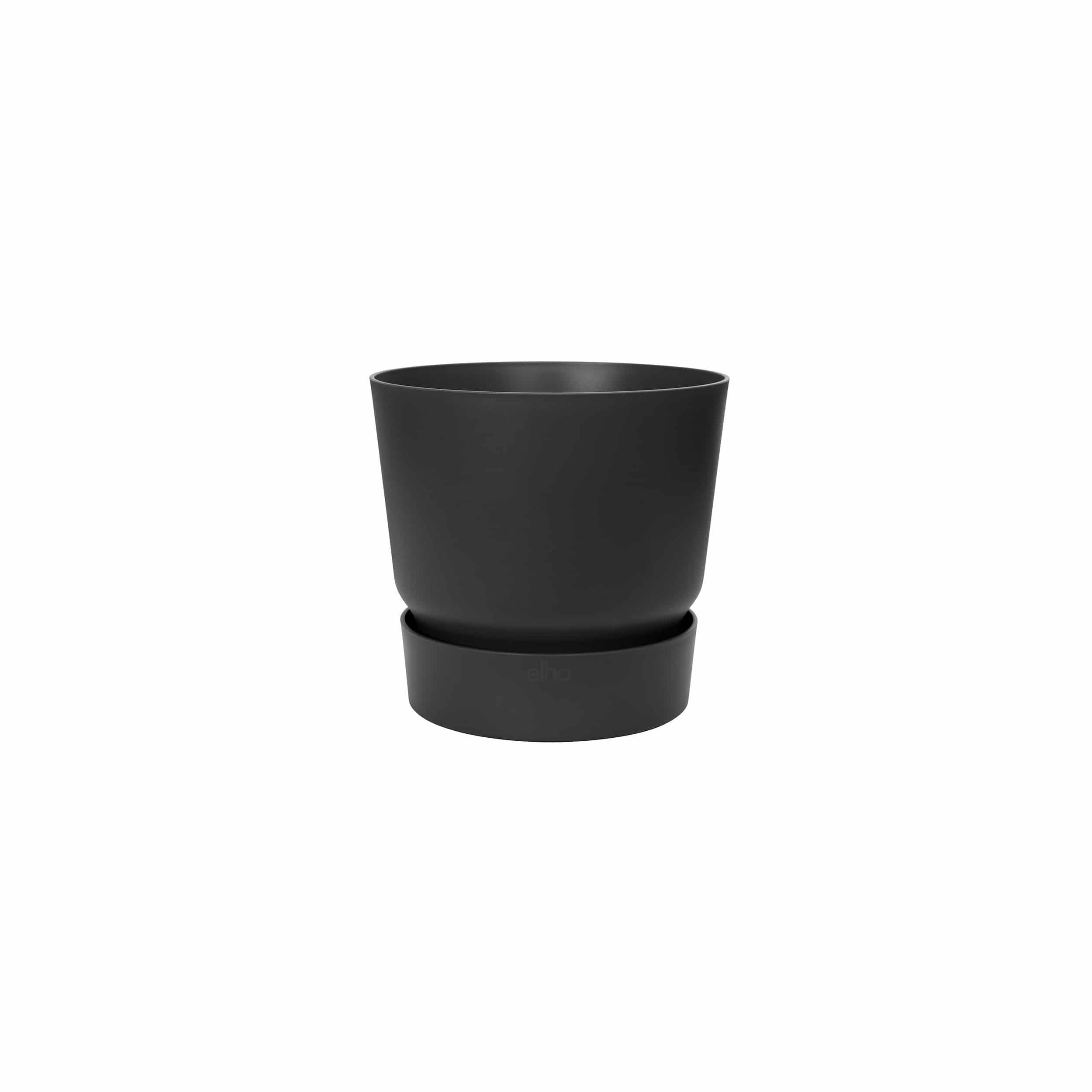 Blumentopf Greenville rund 20 cm lebhaft schwarz