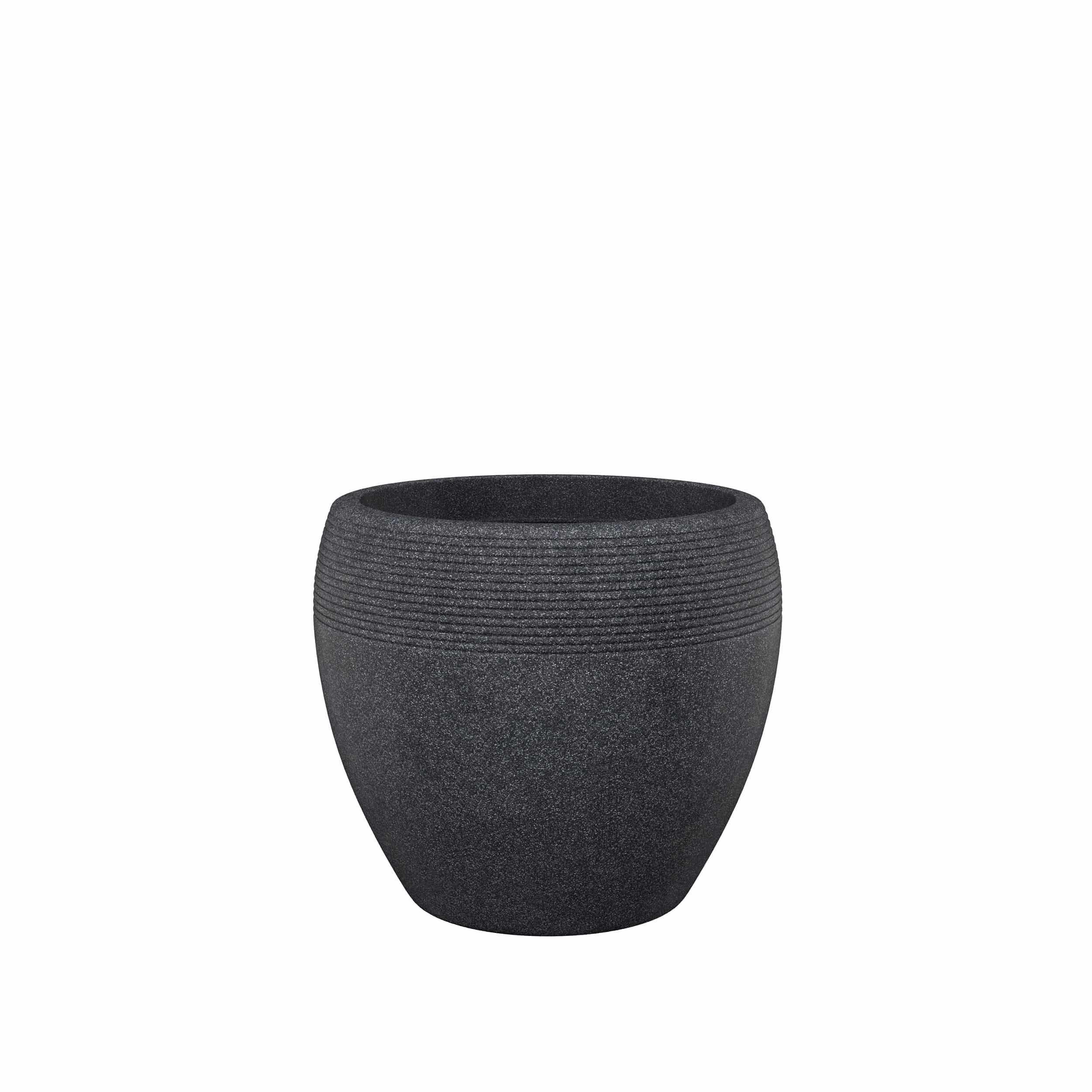Blumenkübel Lineo D40 cm schwarz