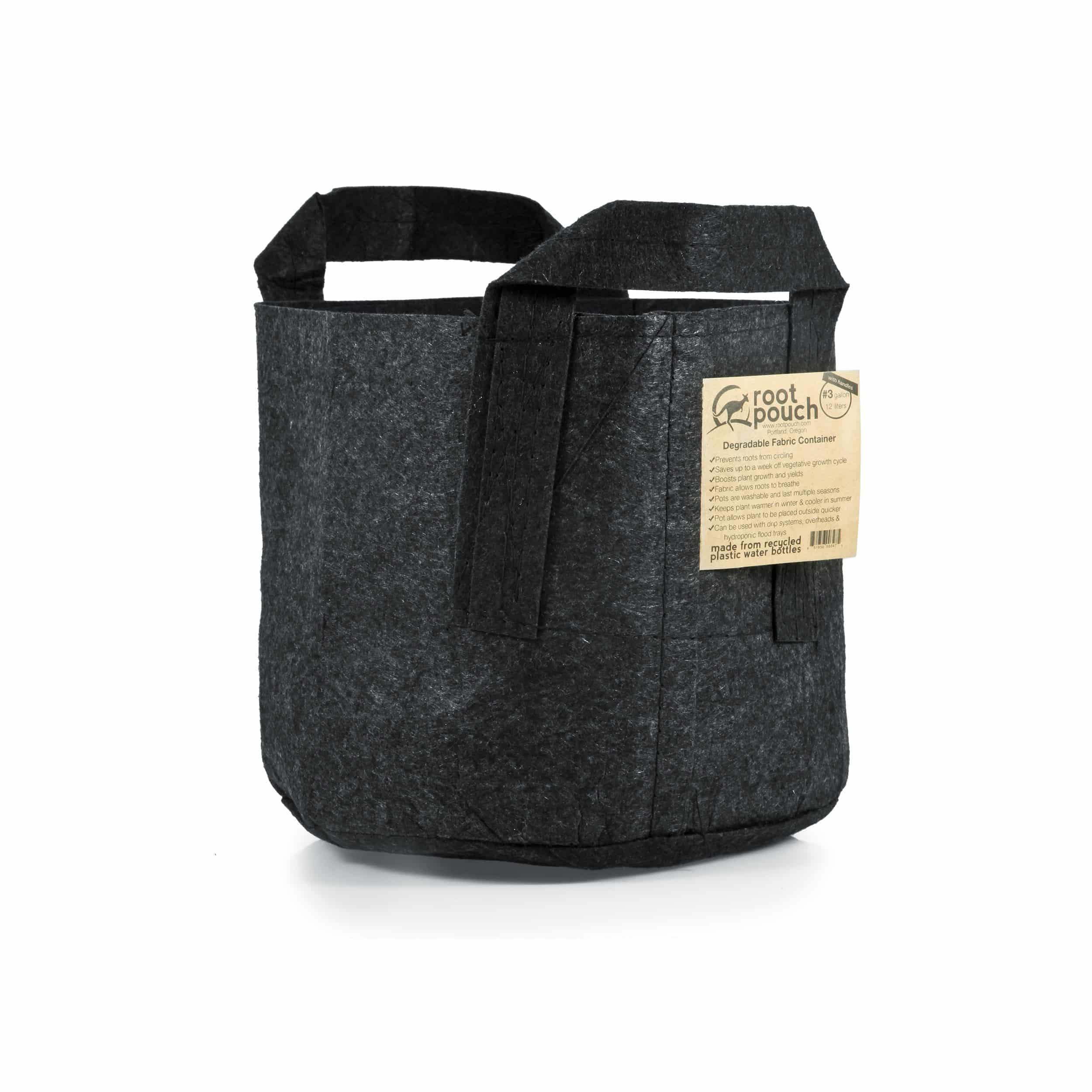 Pflanztasche mit Griffen 12l schwarz