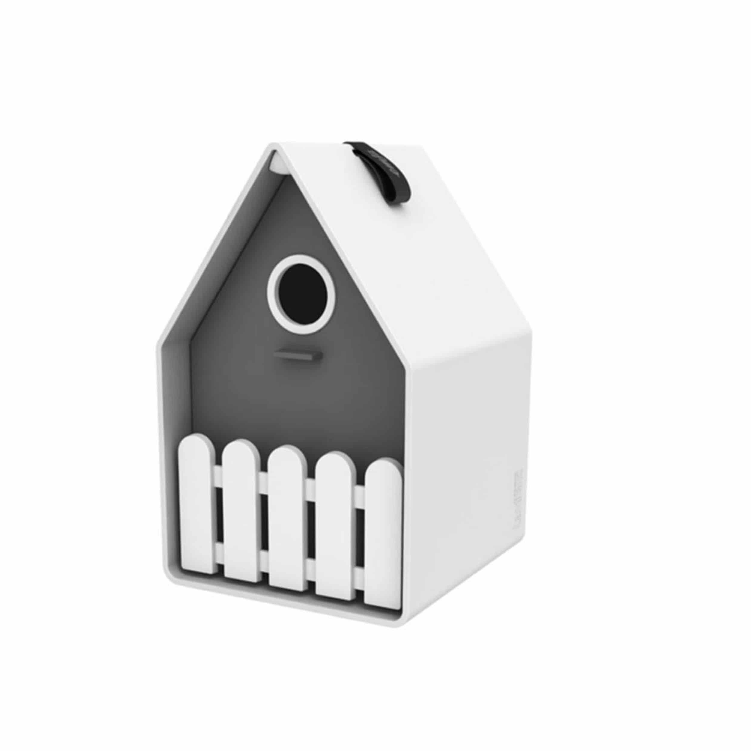 Landhaus Vogelhäuschen weiß/grau
