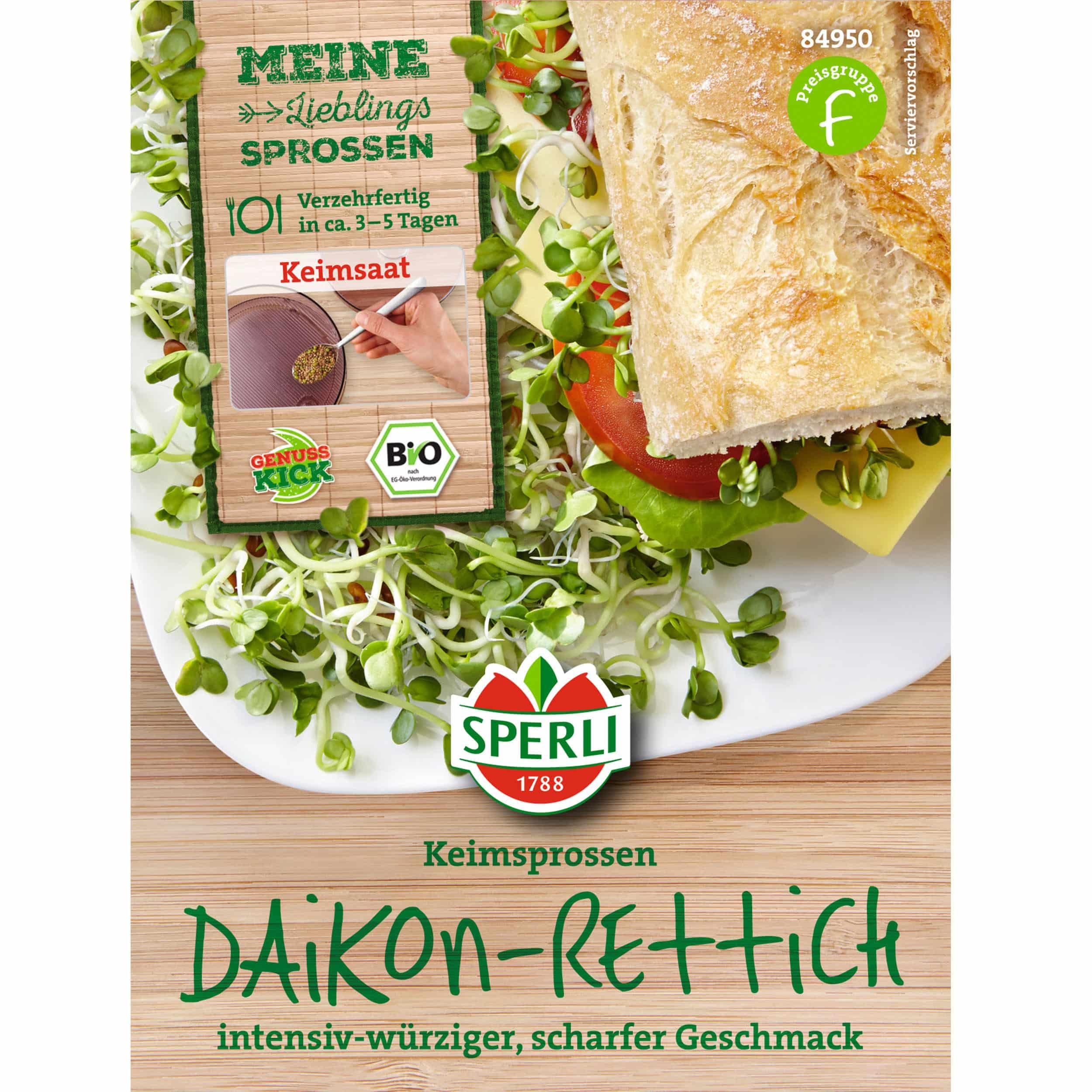Bio Keimsprossen Daikon - Rettich