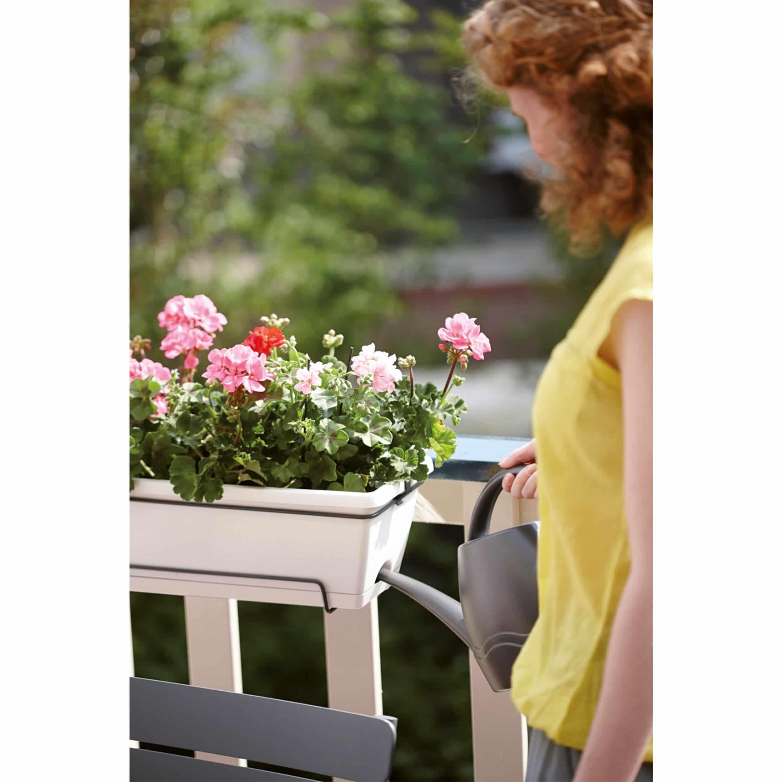 Blumenkasten-Set Barcelona All-in-One L50cm weiß