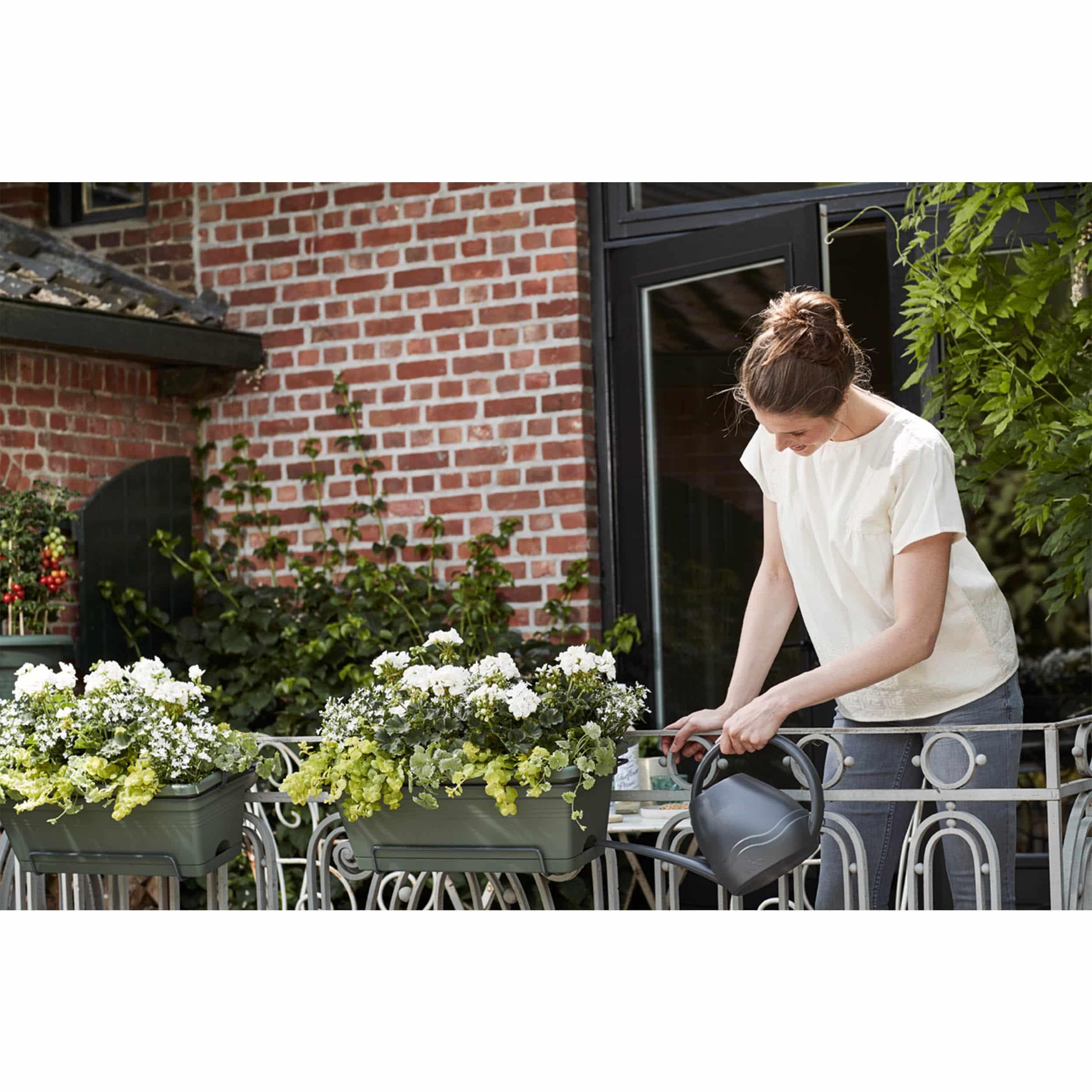 Blumenkasten Green Basics XL All-in-One 55 cm laubgrün