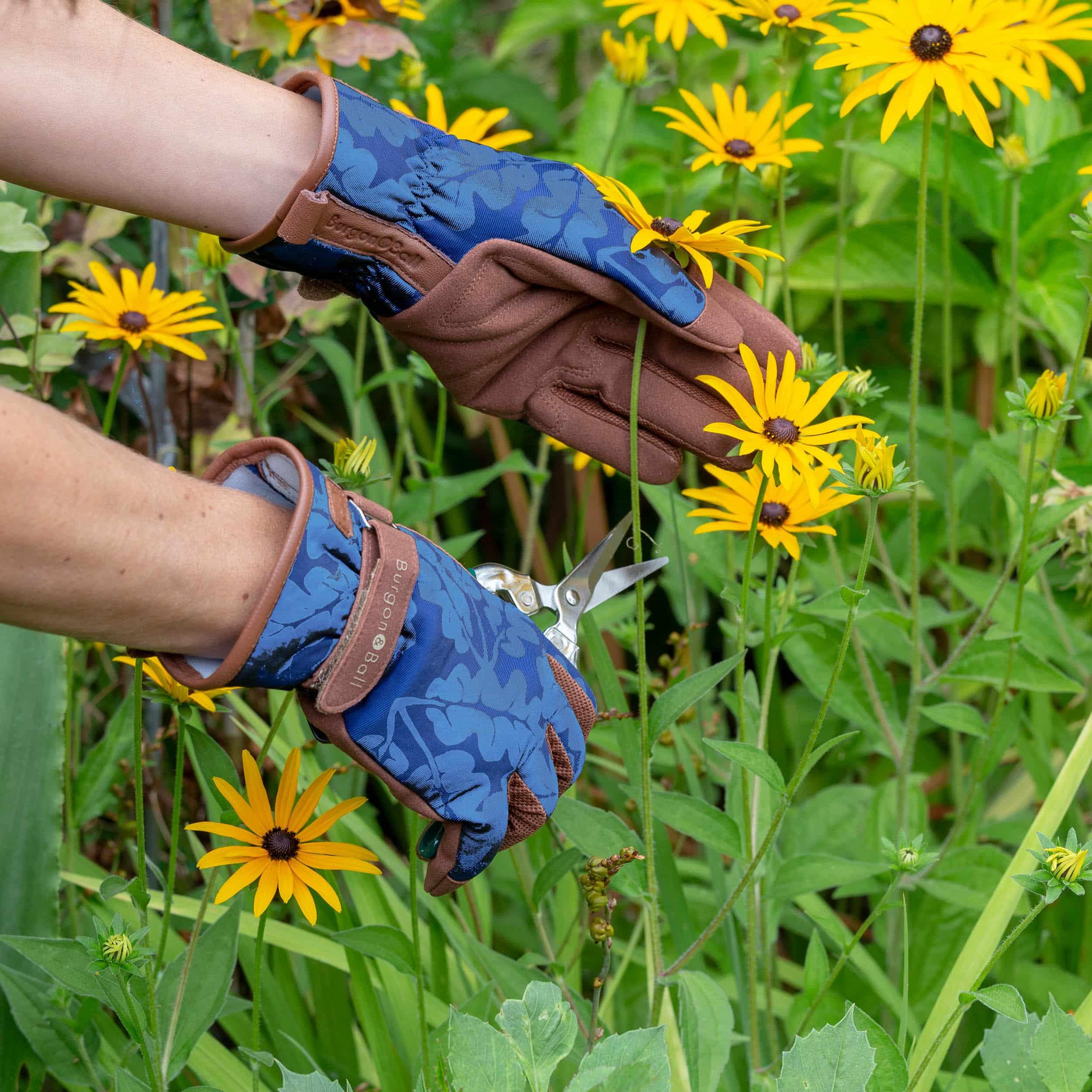 Gartenhandschuhe - Oak Leaf - M/L blau