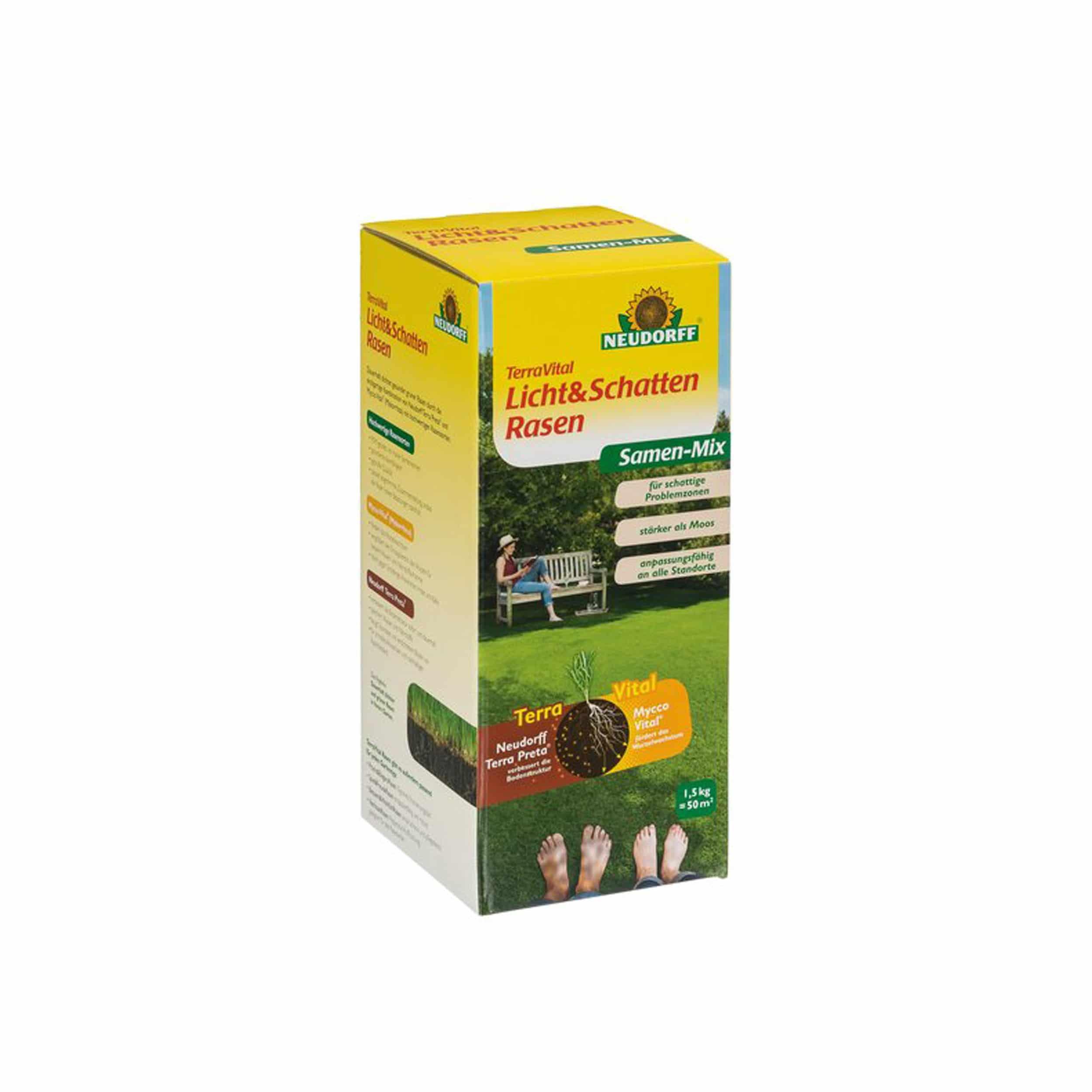TerraVital Licht&SchattenRasen Samen-Mix 1,5 kg