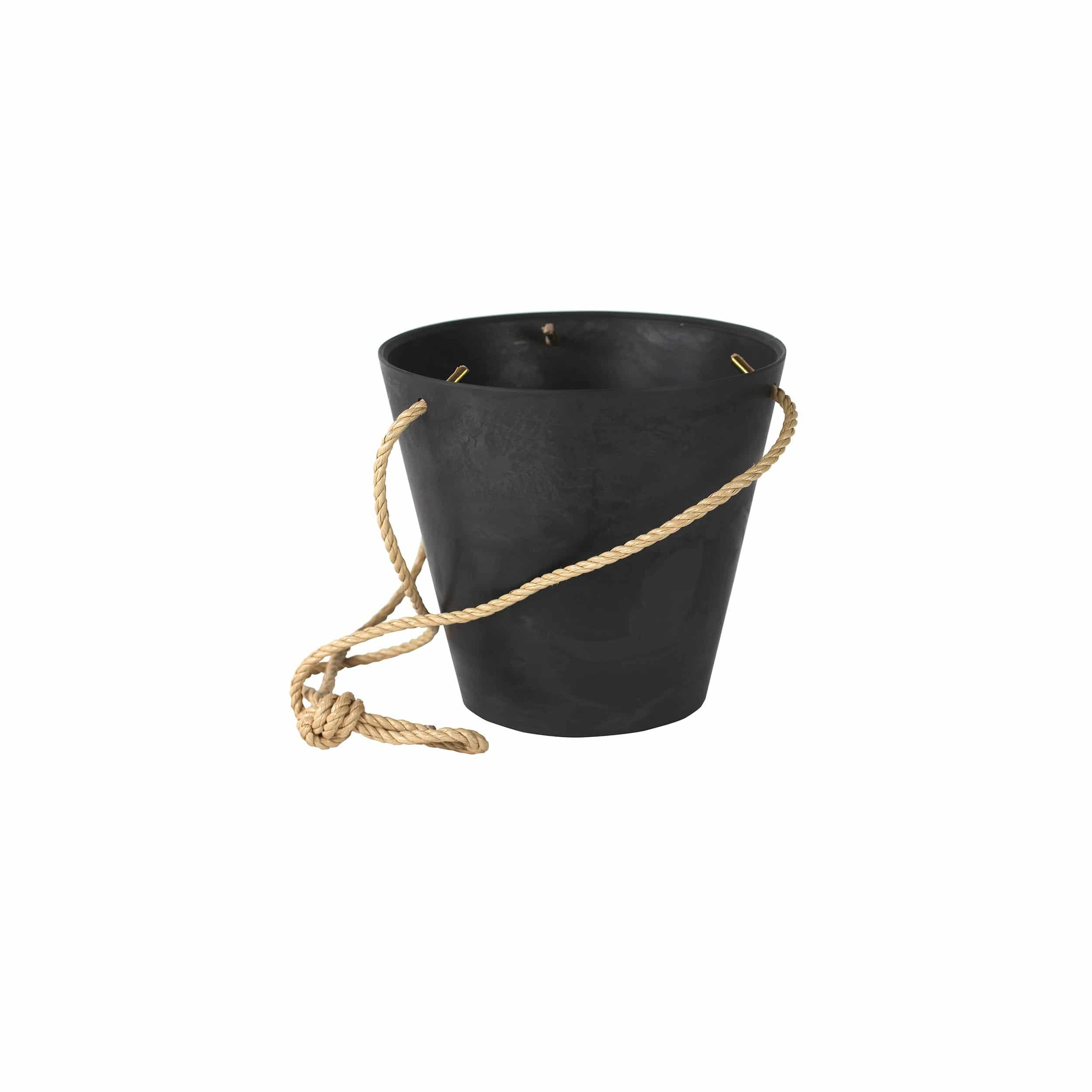 Hänge-Blumentopf Claire D22cm schwarz